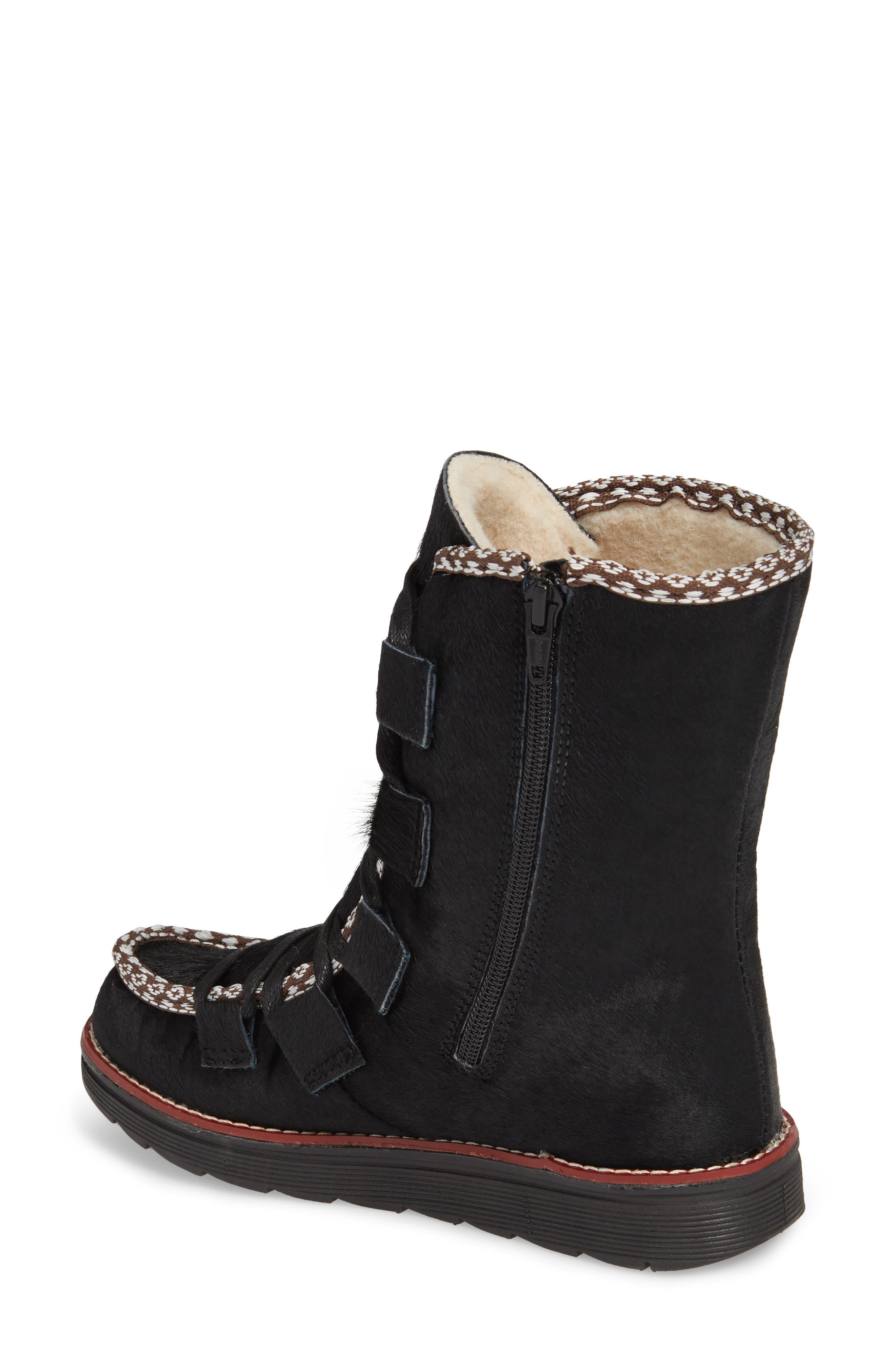 Kitchener Waterproof Genuine Calf Hair Snow Boot,                             Alternate thumbnail 2, color,                             Black