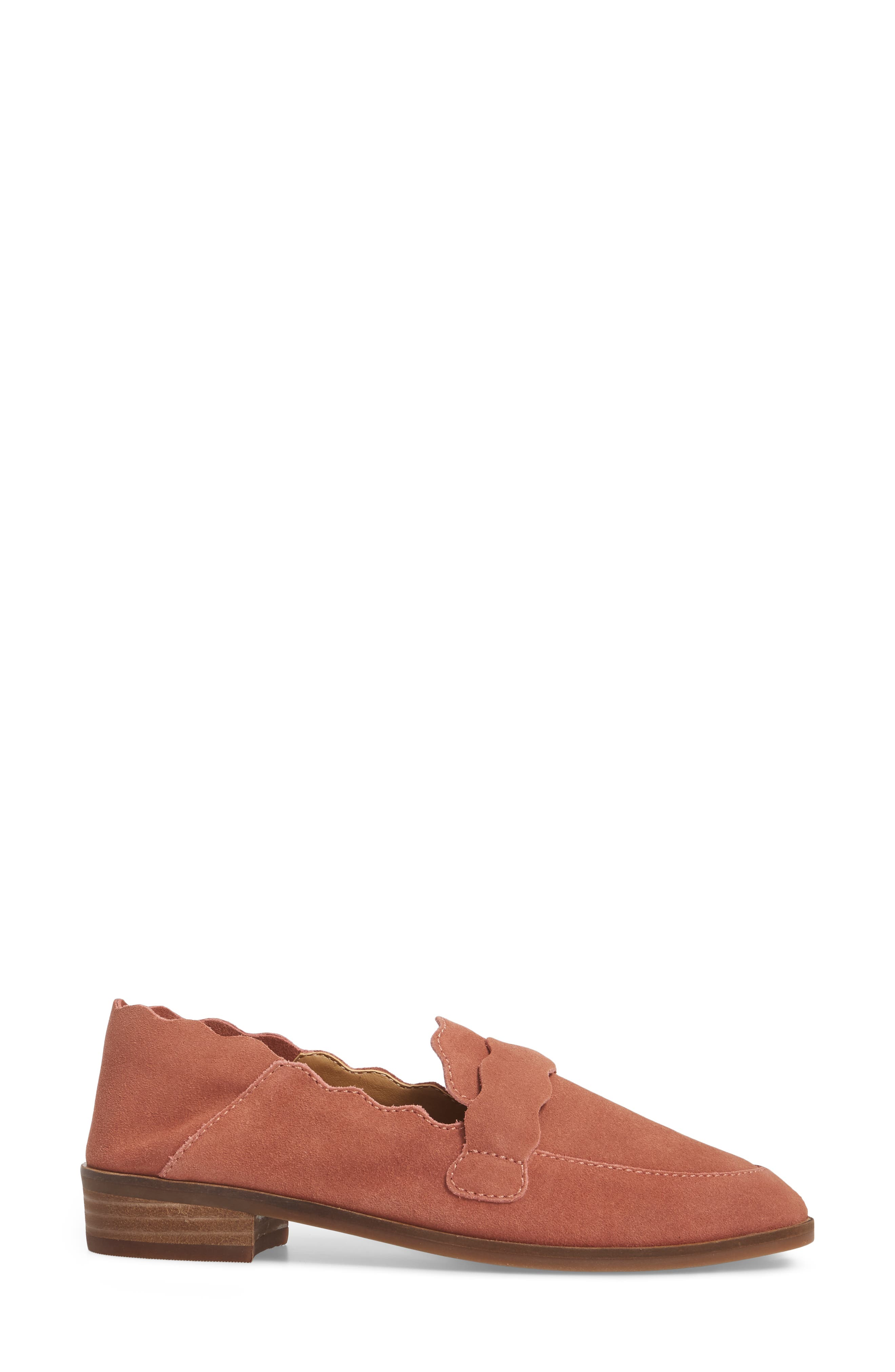Callister Loafer,                             Alternate thumbnail 3, color,                             Canyon Rose Suede