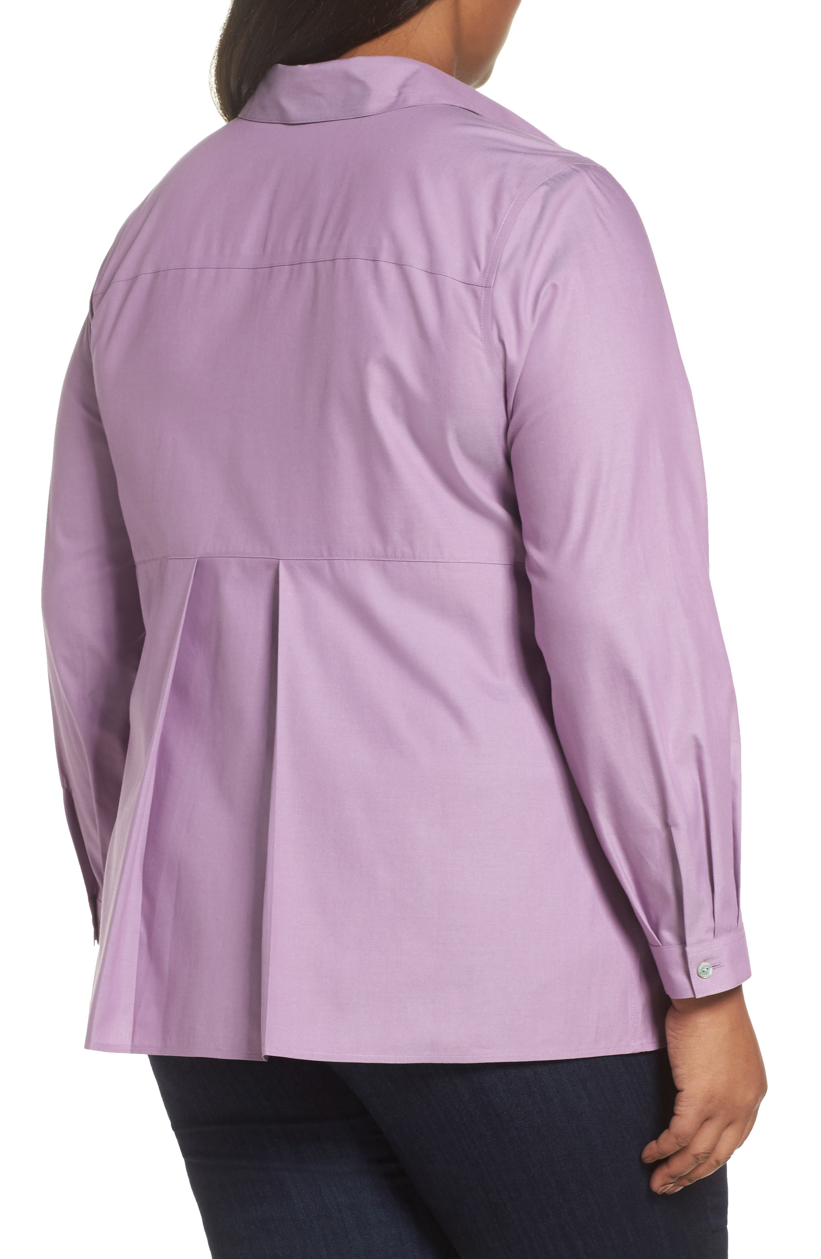 Pinpoint Oxford Cloth Shirt,                             Alternate thumbnail 2, color,                             Mauve