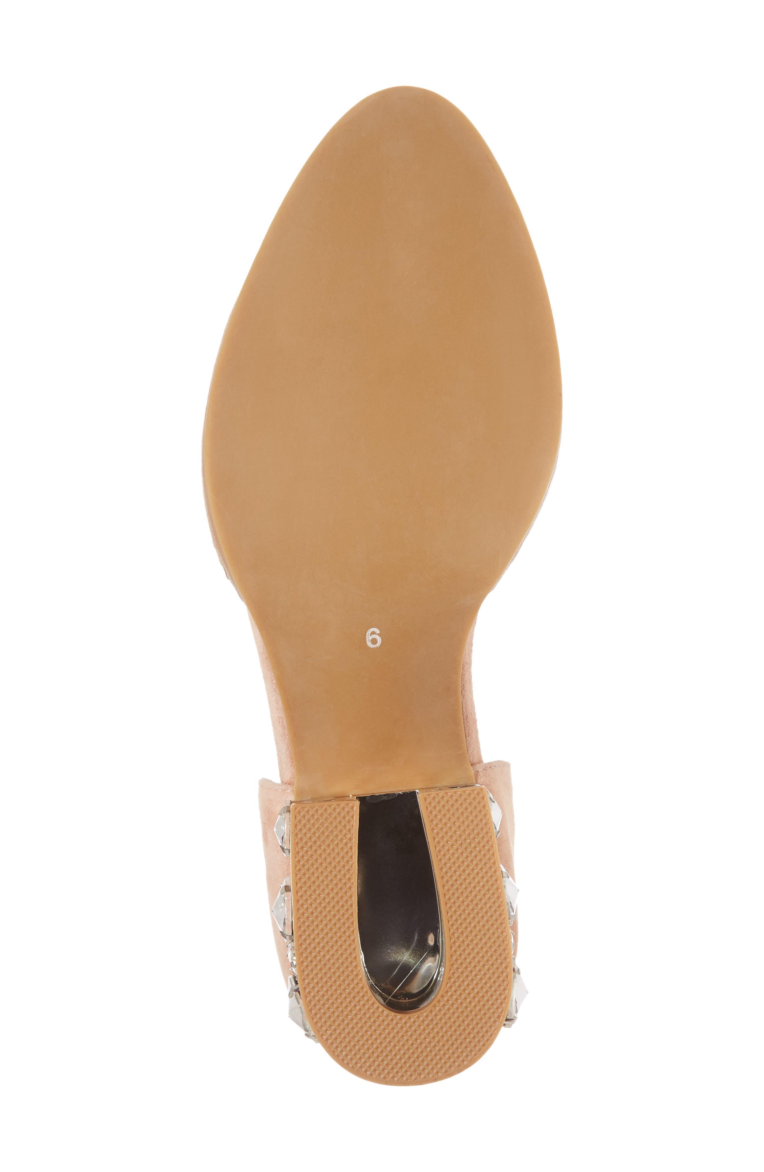 Civil Studded Loafer,                             Alternate thumbnail 6, color,                             Blush/ Silver Suede