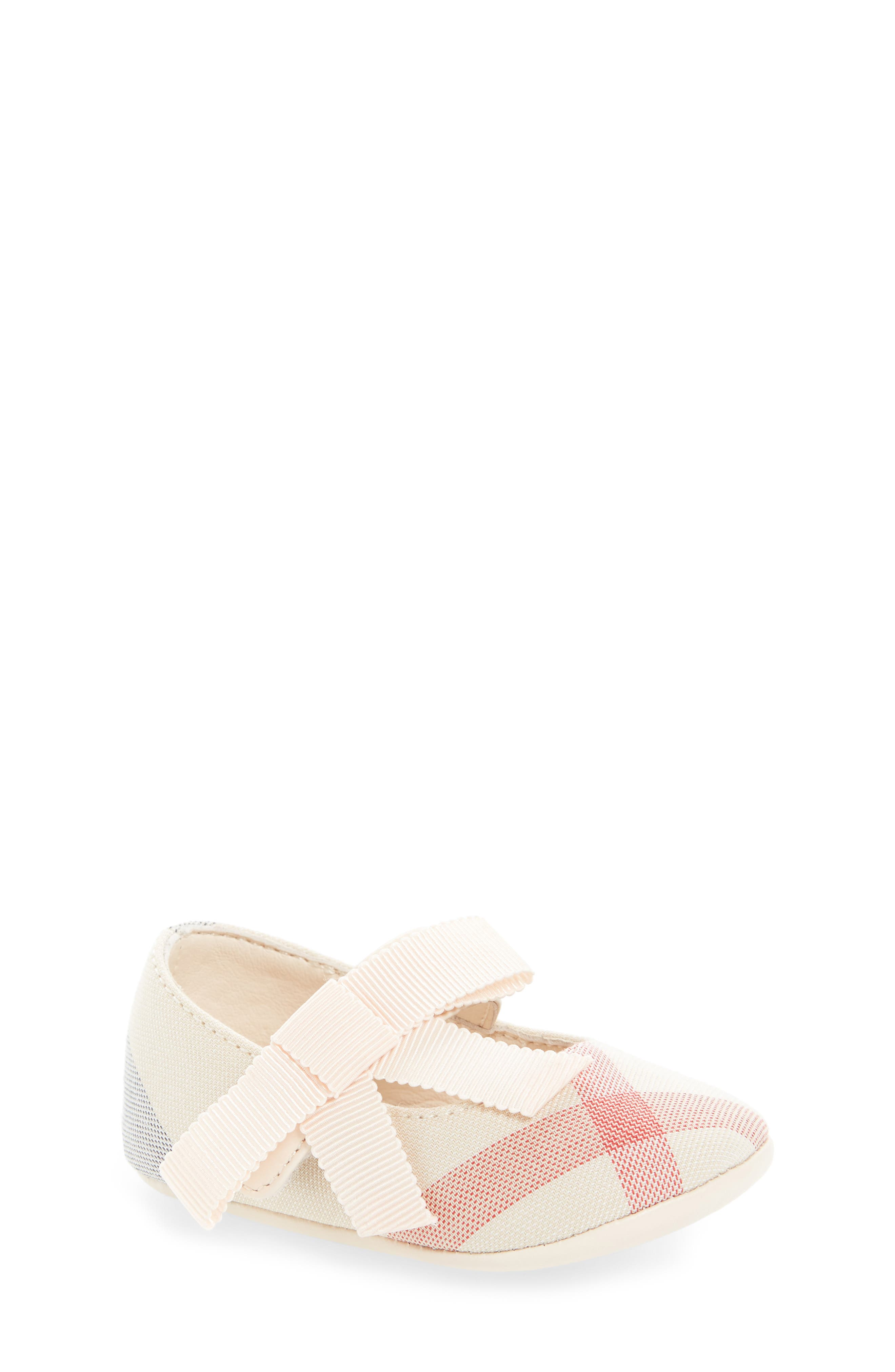 Burberry Stark Mary Jane Crib Shoe (Baby)