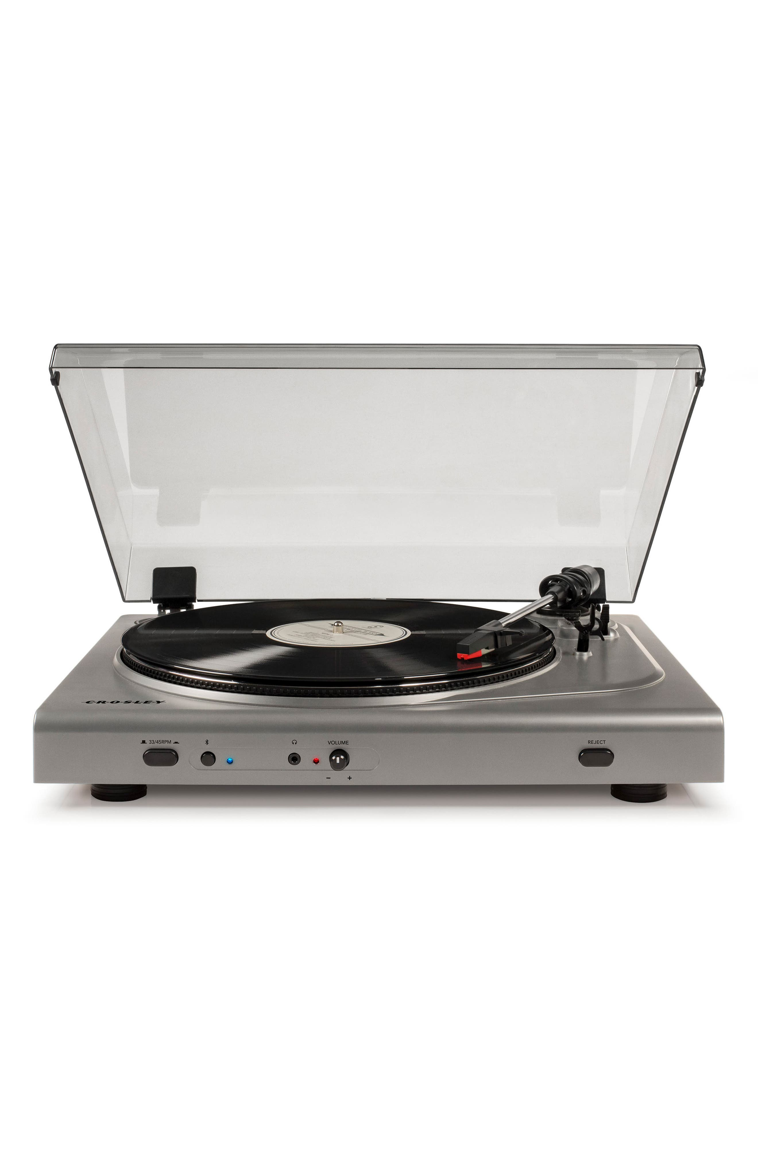 T300A Bluetooth Turntable,                         Main,                         color, Silver