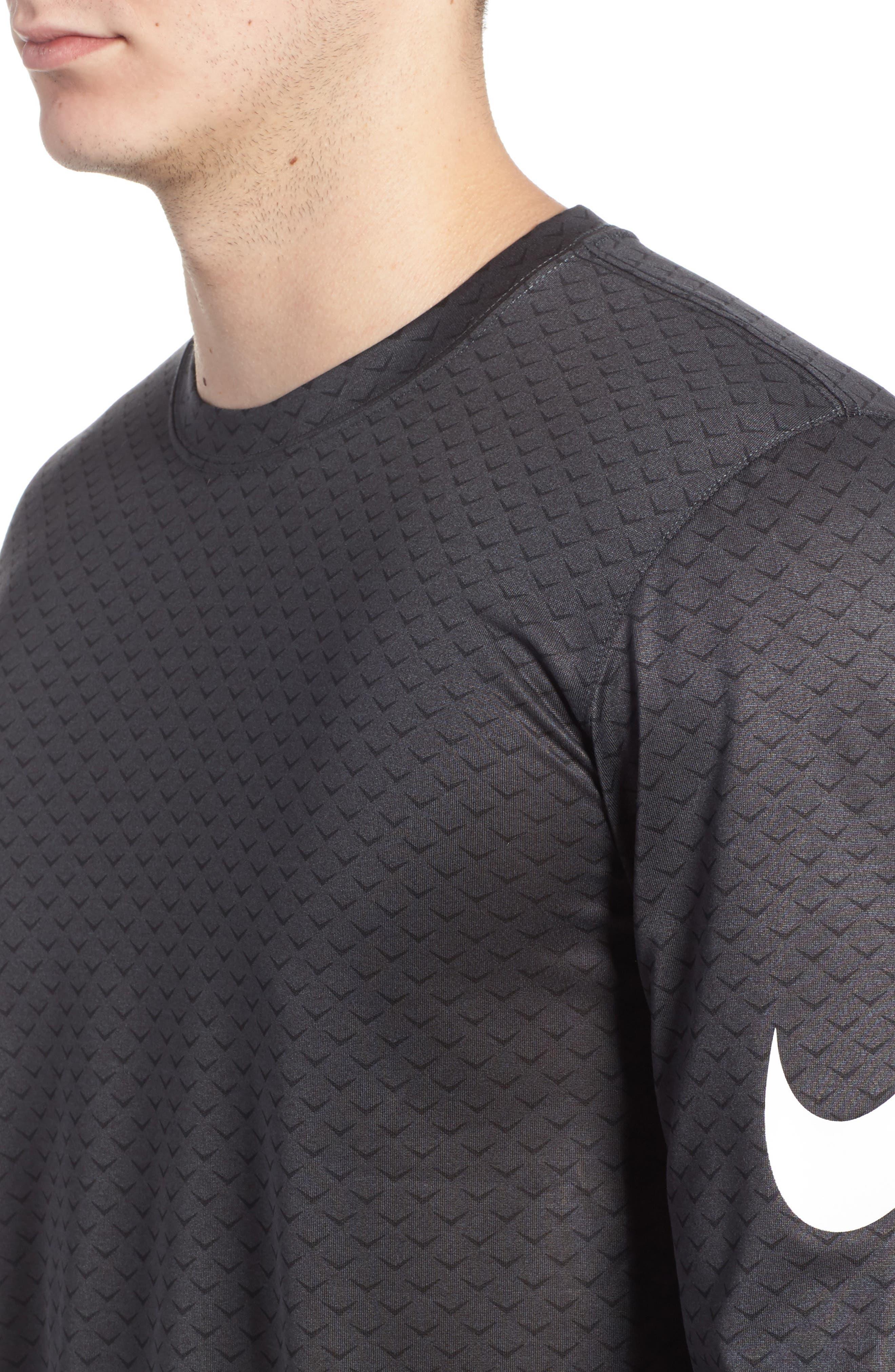 Dry Legend Training T-Shirt,                             Alternate thumbnail 4, color,                             Anthracite/ White