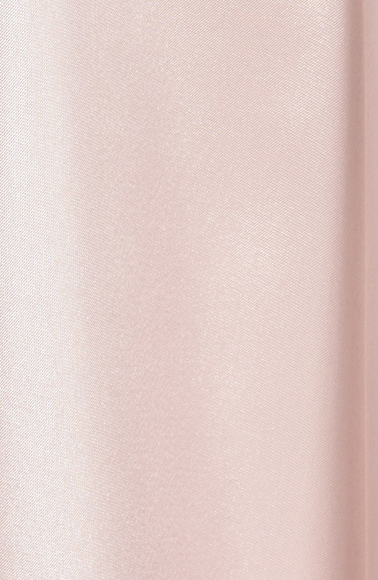Mikado A-Line Gown,                             Alternate thumbnail 5, color,                             Light Blush