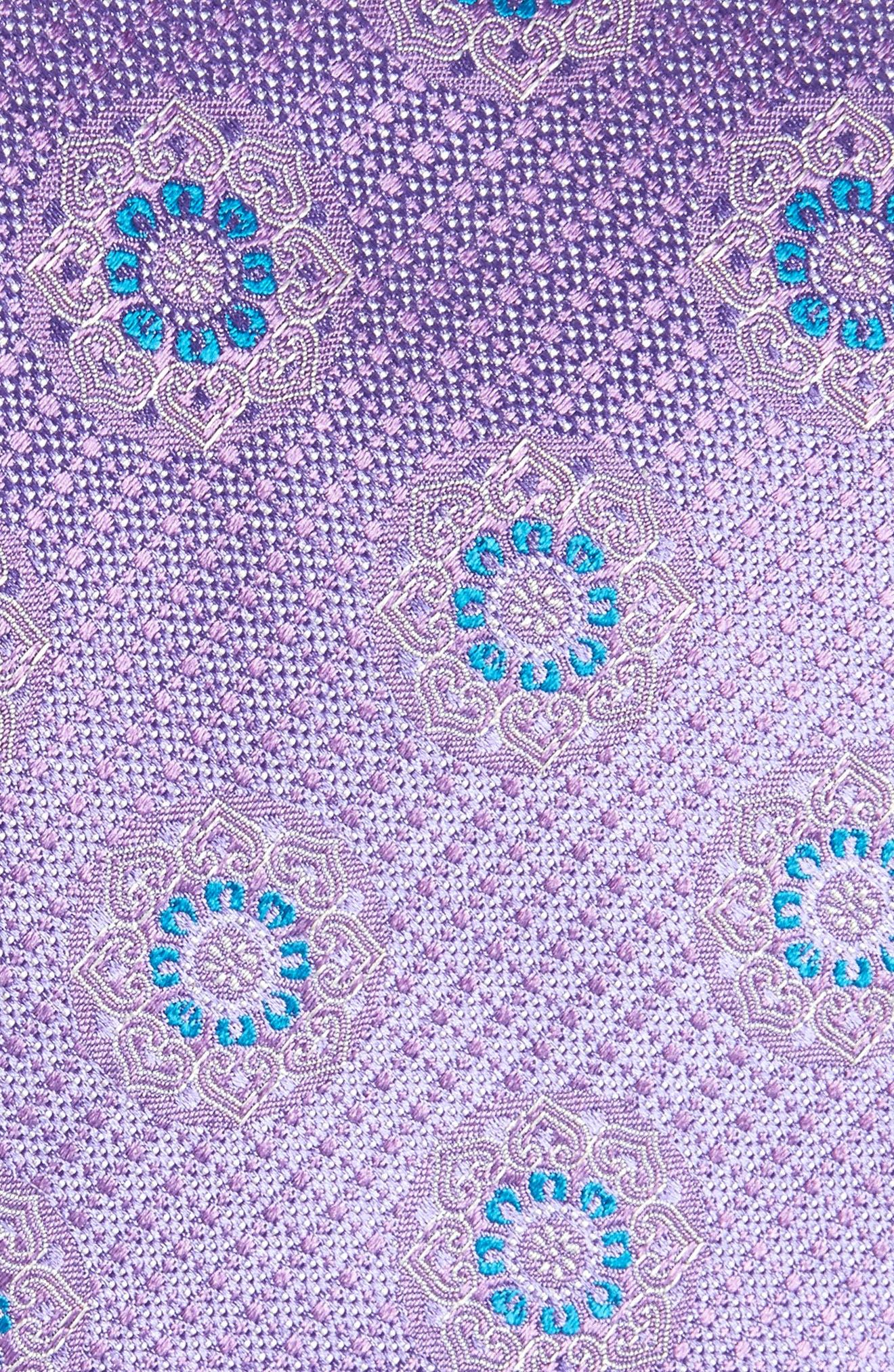 Medallion Silk Tie,                             Alternate thumbnail 2, color,                             Light Purple