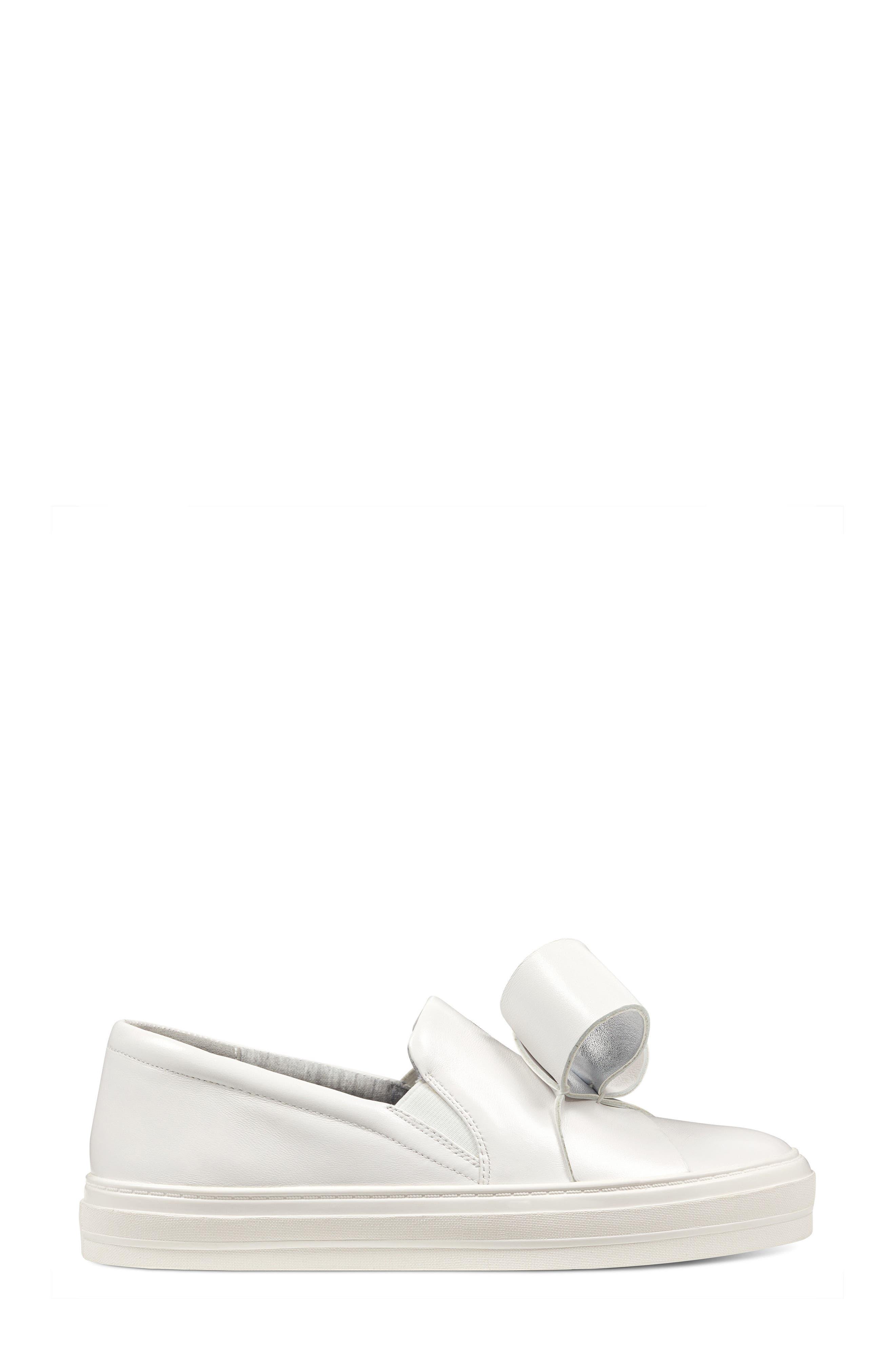 Odienella Slip-On Sneaker,                             Alternate thumbnail 3, color,                             White Multi Leather
