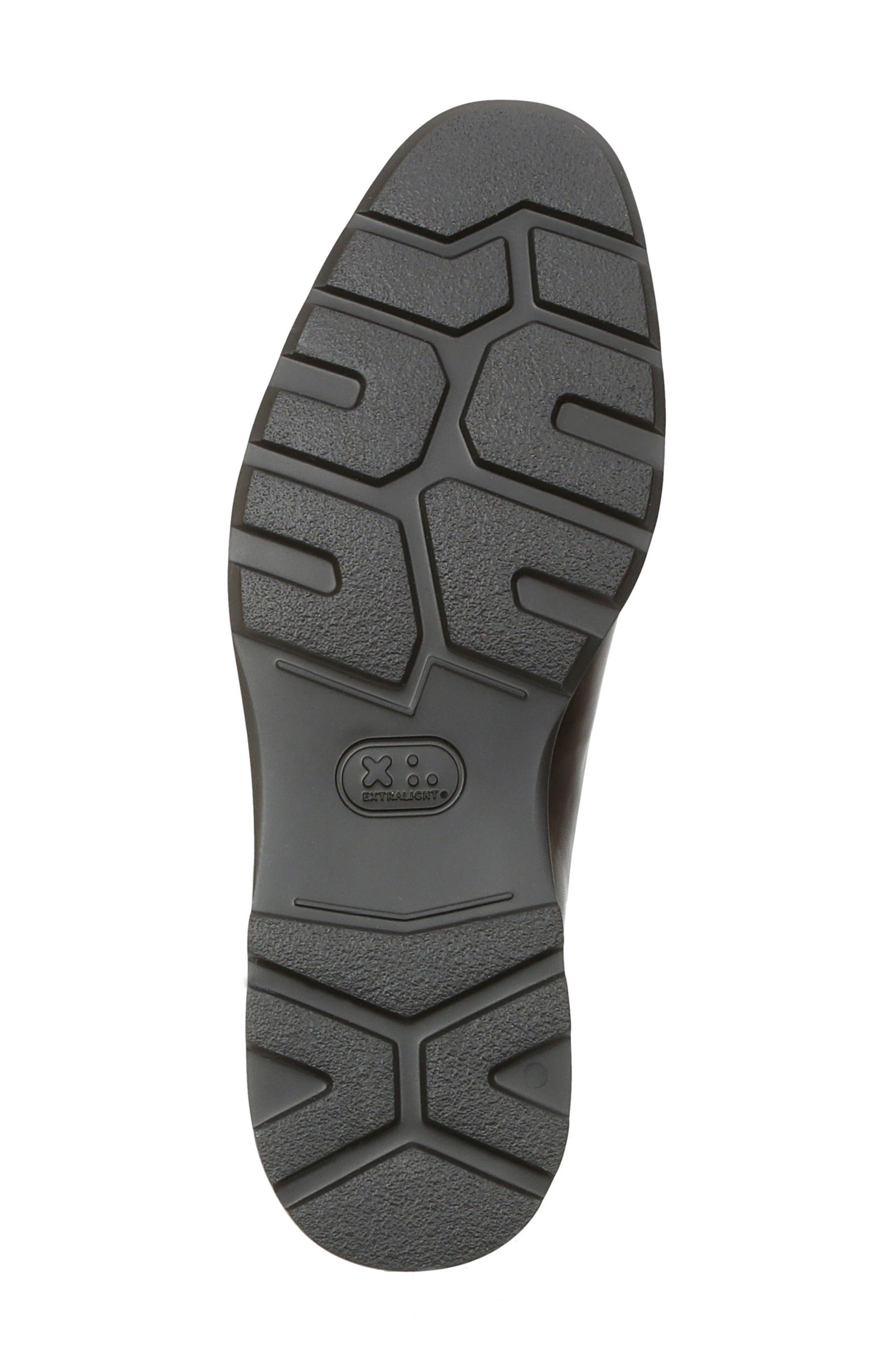Vegas Apron Toe Loafer,                             Alternate thumbnail 6, color,                             Black Leather