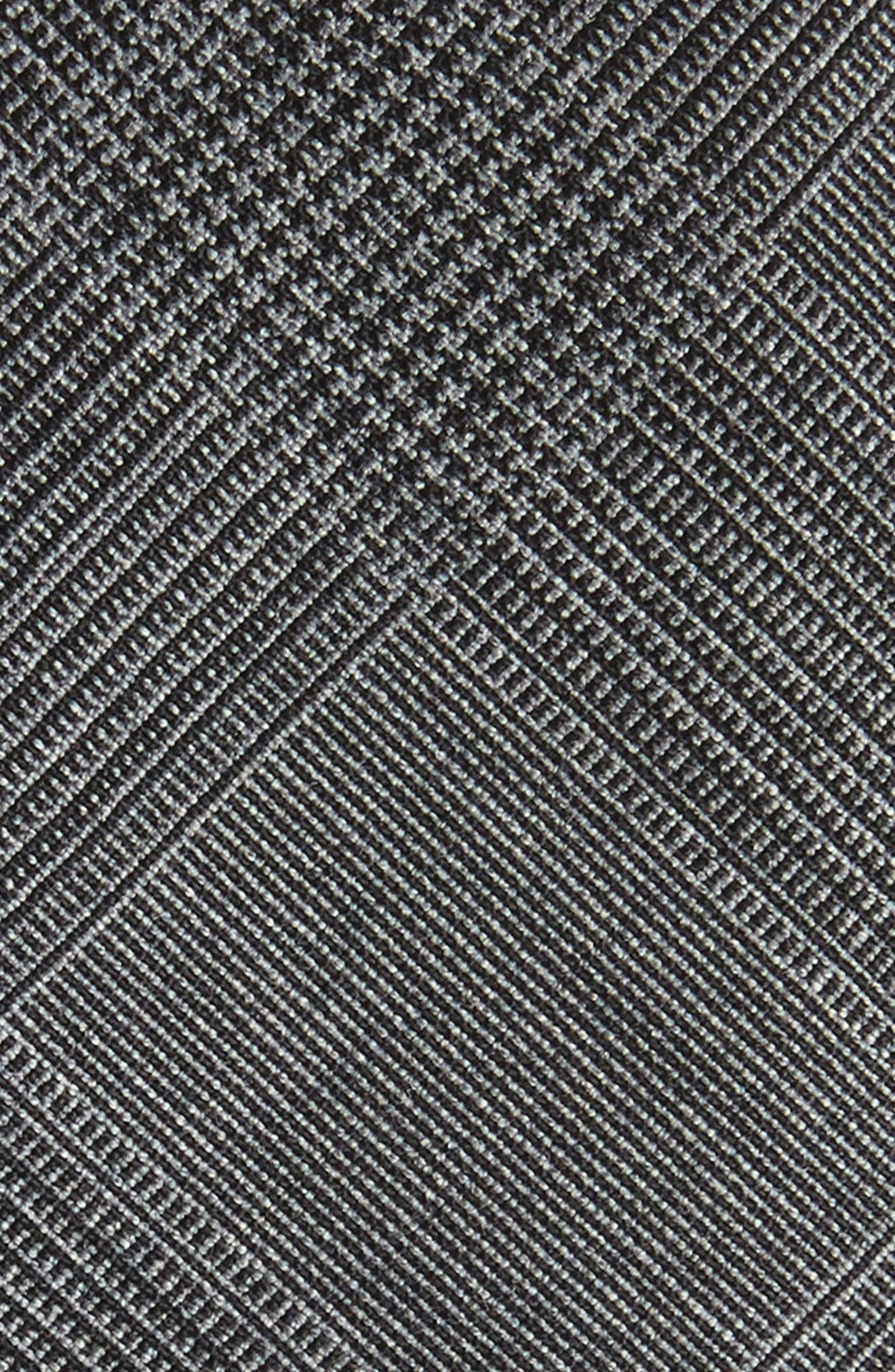 Glen Plaid Wool Skinny Tie,                             Alternate thumbnail 2, color,                             Charcoal