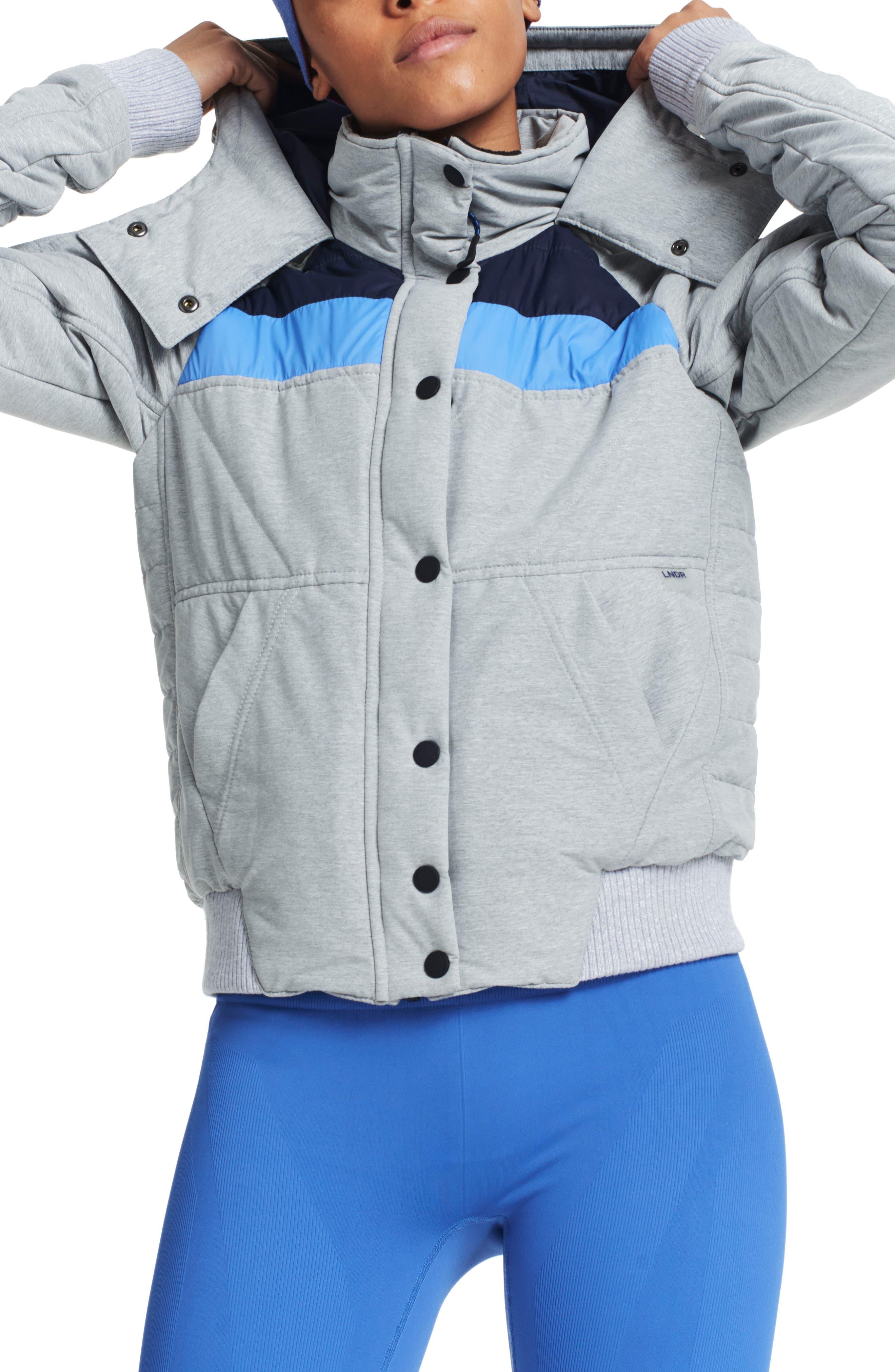 Winterbreaker Puffer Jacket,                             Main thumbnail 1, color,                             Grey Marl