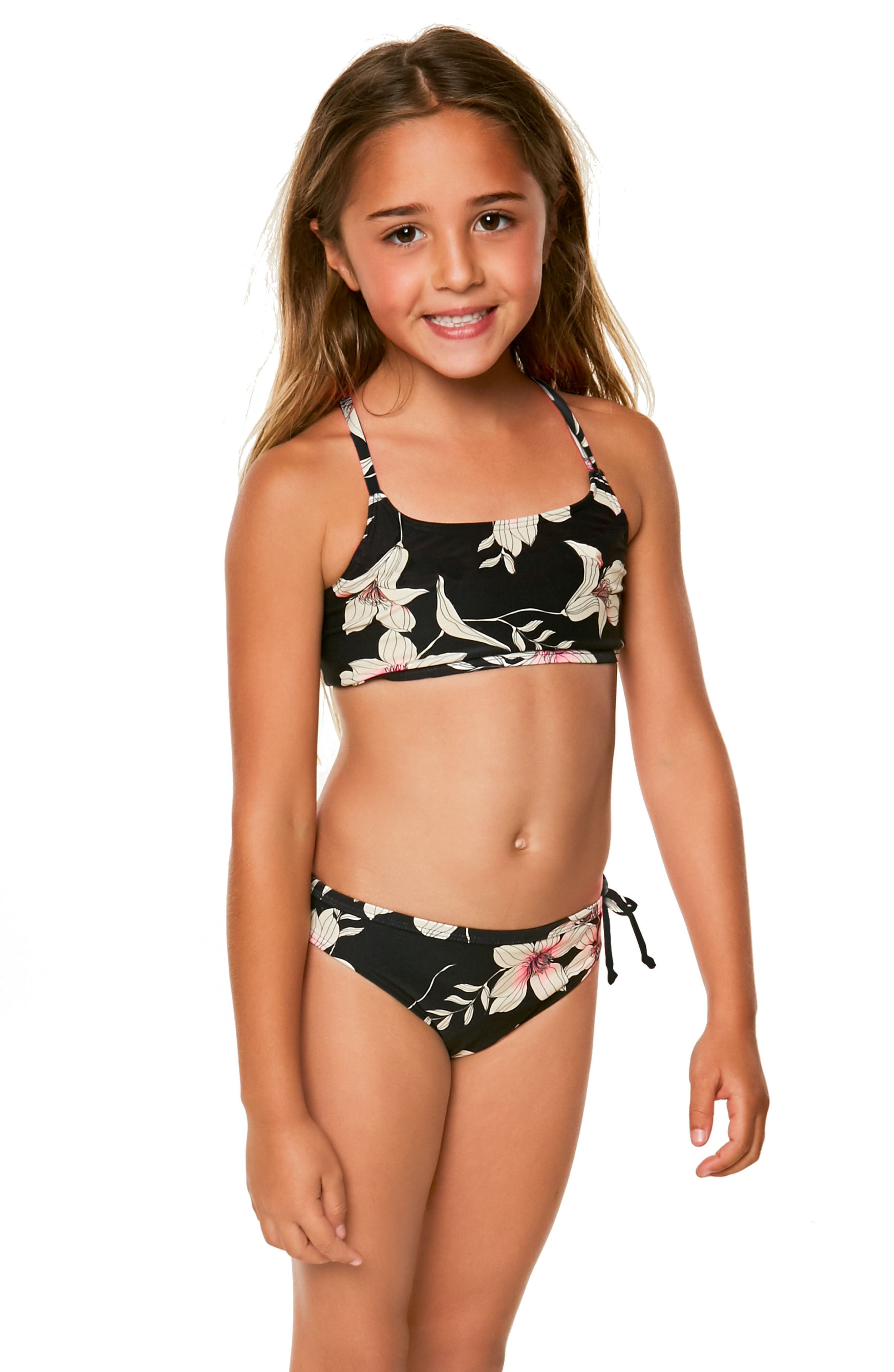 Albany Two-Piece Swimsuit,                             Alternate thumbnail 4, color,                             Black - Blk