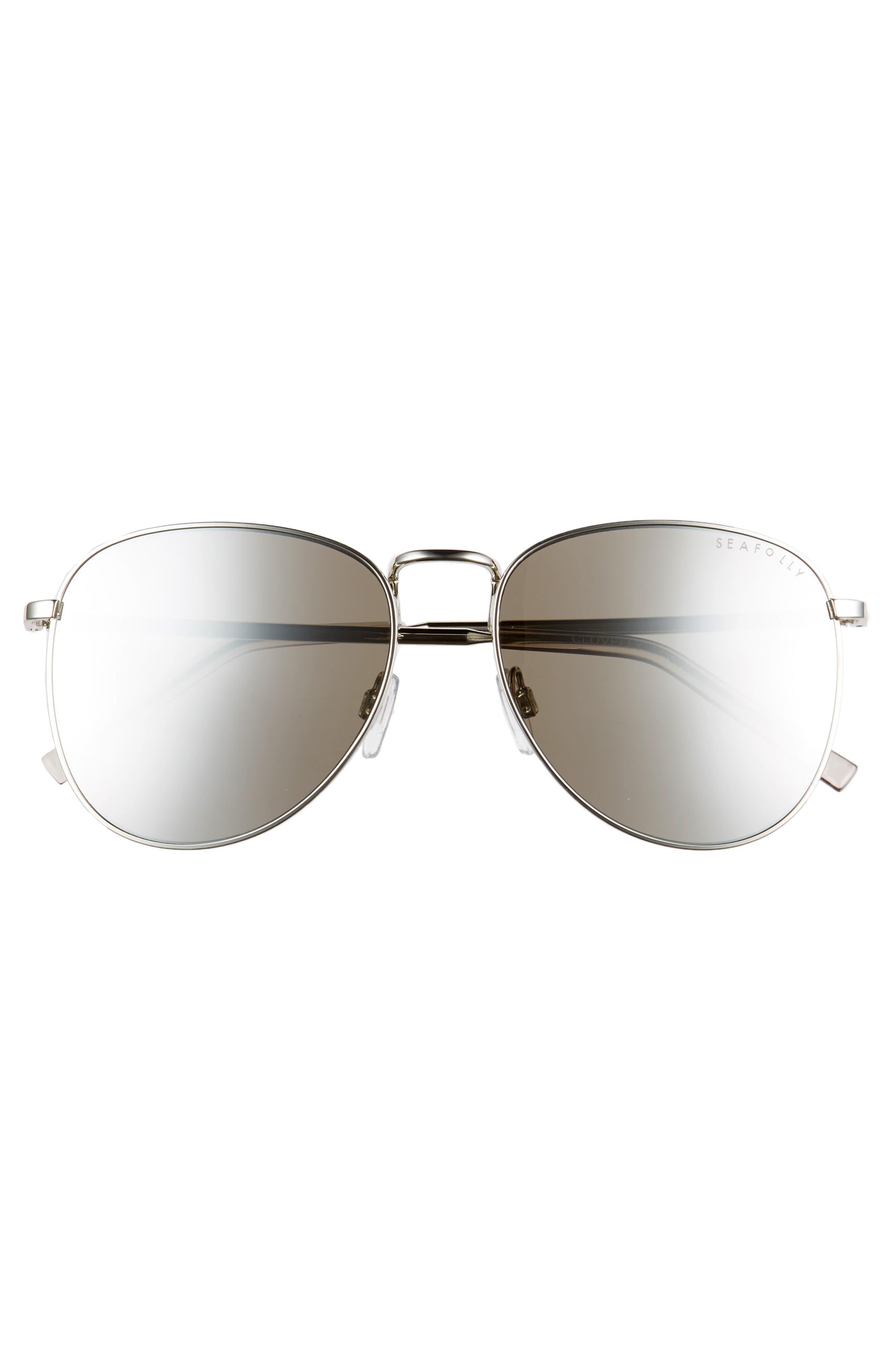 Clovelly 56mm Metal Sunglasses,                             Alternate thumbnail 3, color,                             Sand