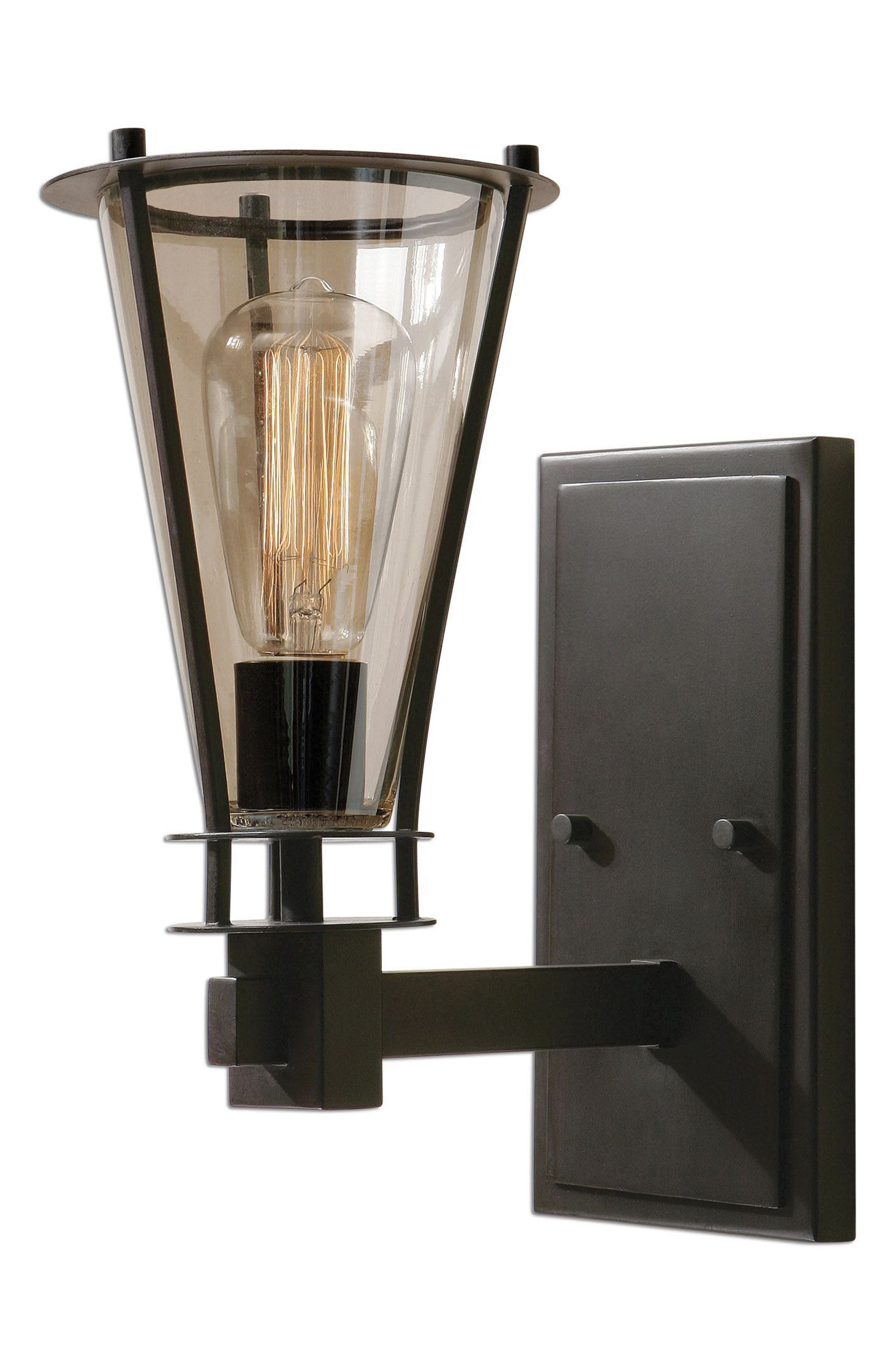 Frisco Wall Sconce,                         Main,                         color, Black