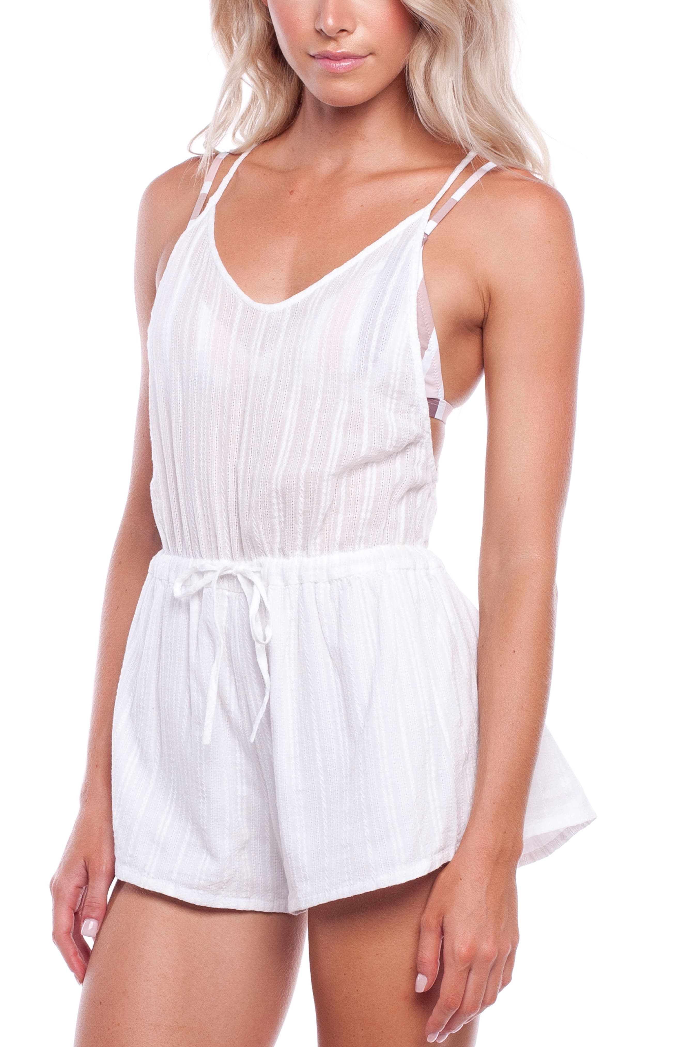 Daydreamer Cover-Up Romper,                             Main thumbnail 1, color,                             Natural