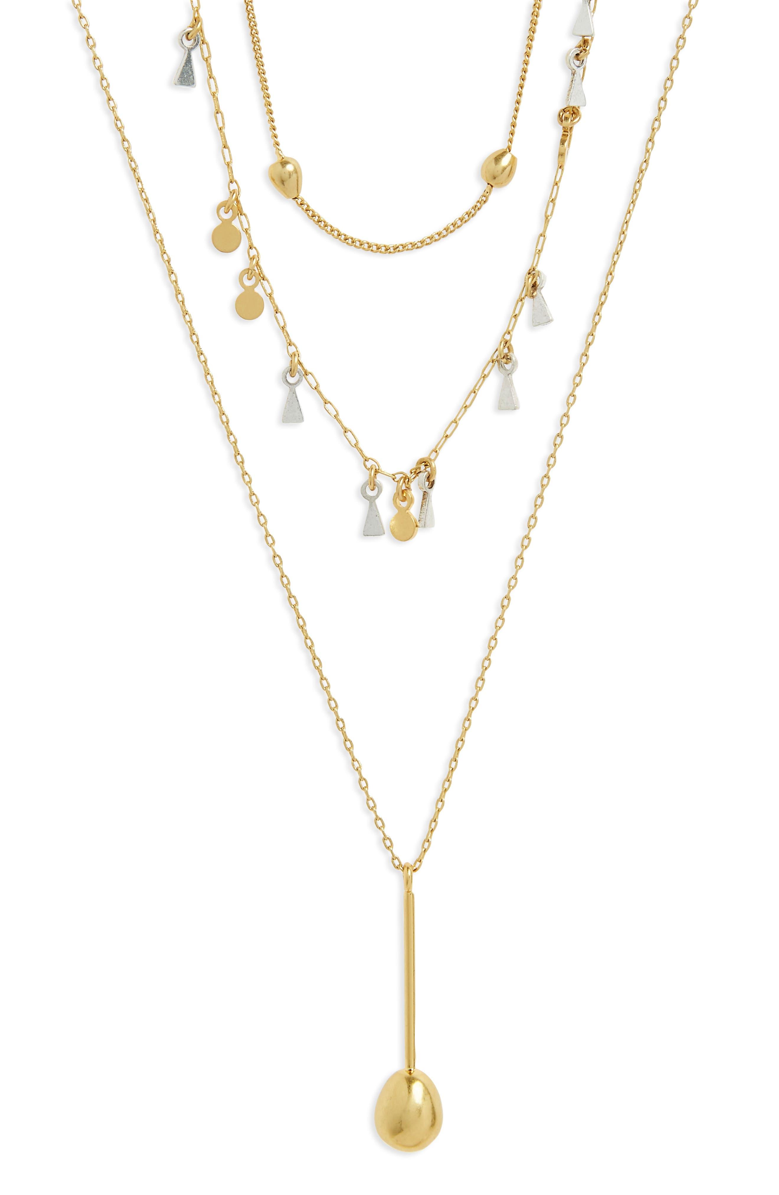 Alternate Image 2  - Madewell Organic Shape Layered Necklace