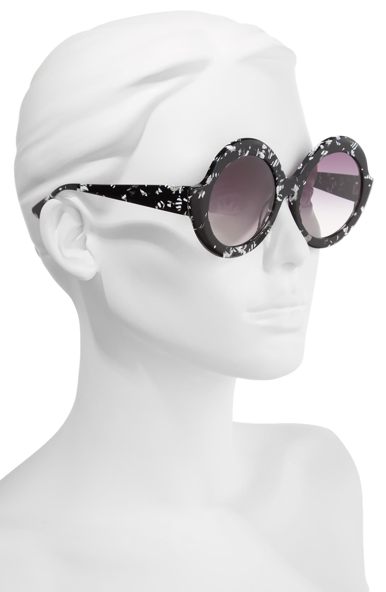 Alternate Image 2  - Alice + Olivia Stacey 56mm Round Gradient Lens Sunglasses