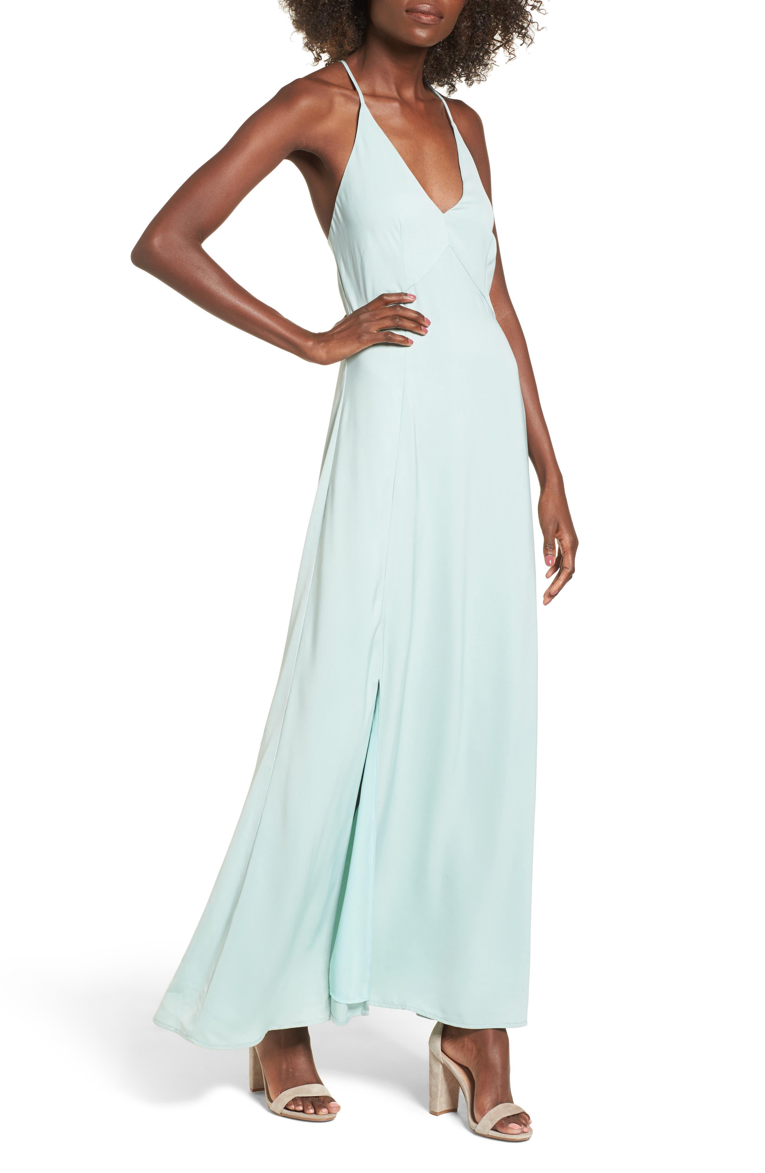 Maxi Dress,                         Main,                         color, Light Teal