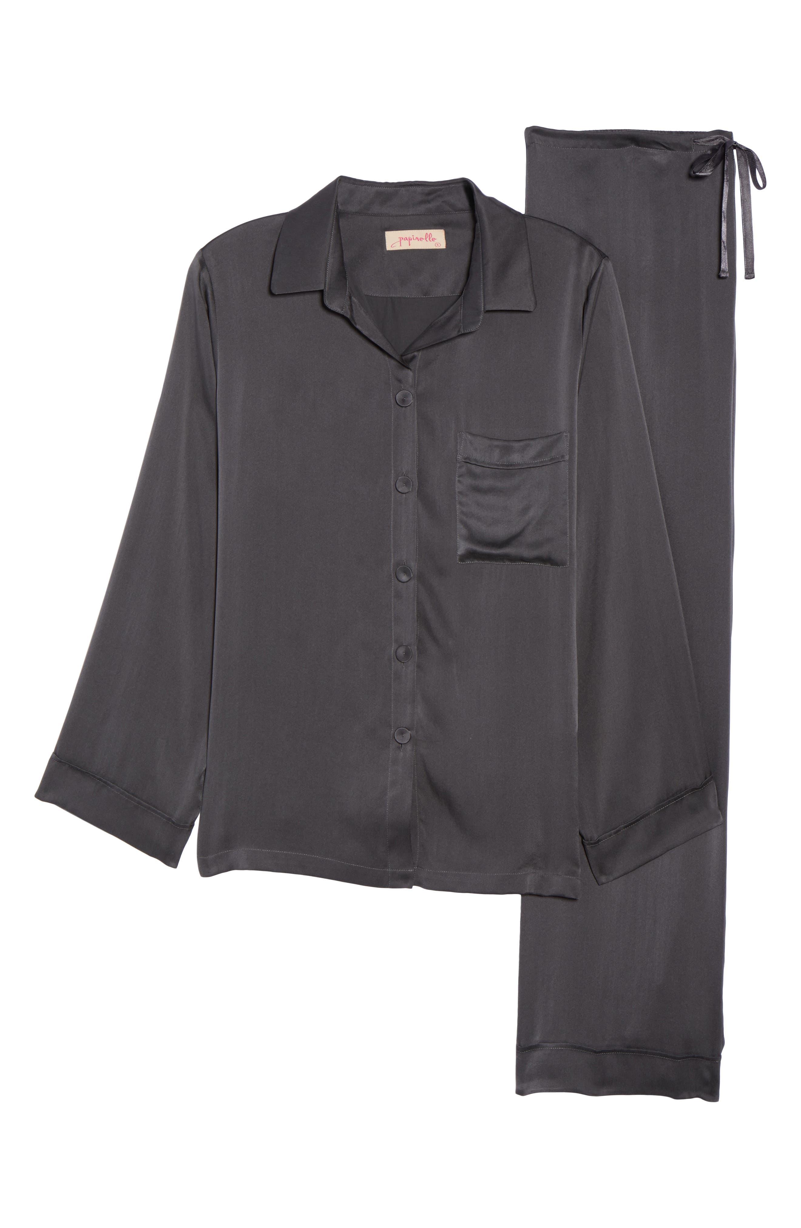 Alternate Image 4  - Papinelle Silk Pajamas