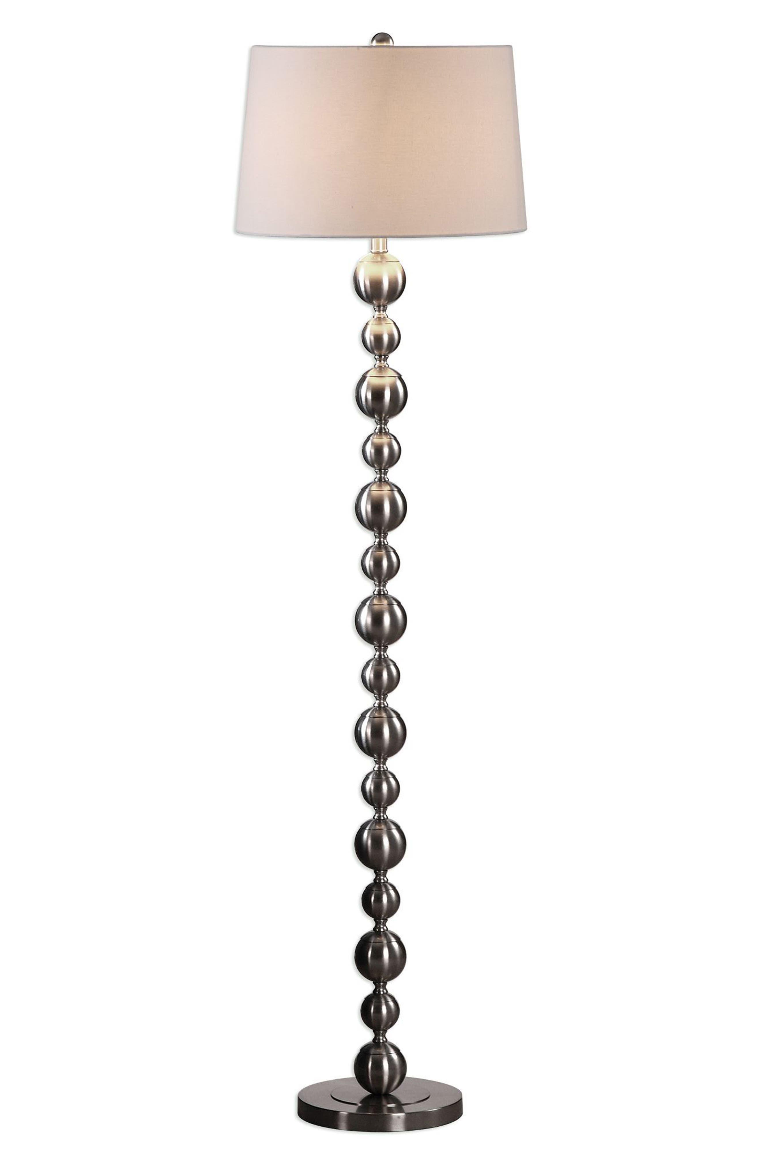 Eloisa Floor Lamp,                             Main thumbnail 1, color,                             Brown