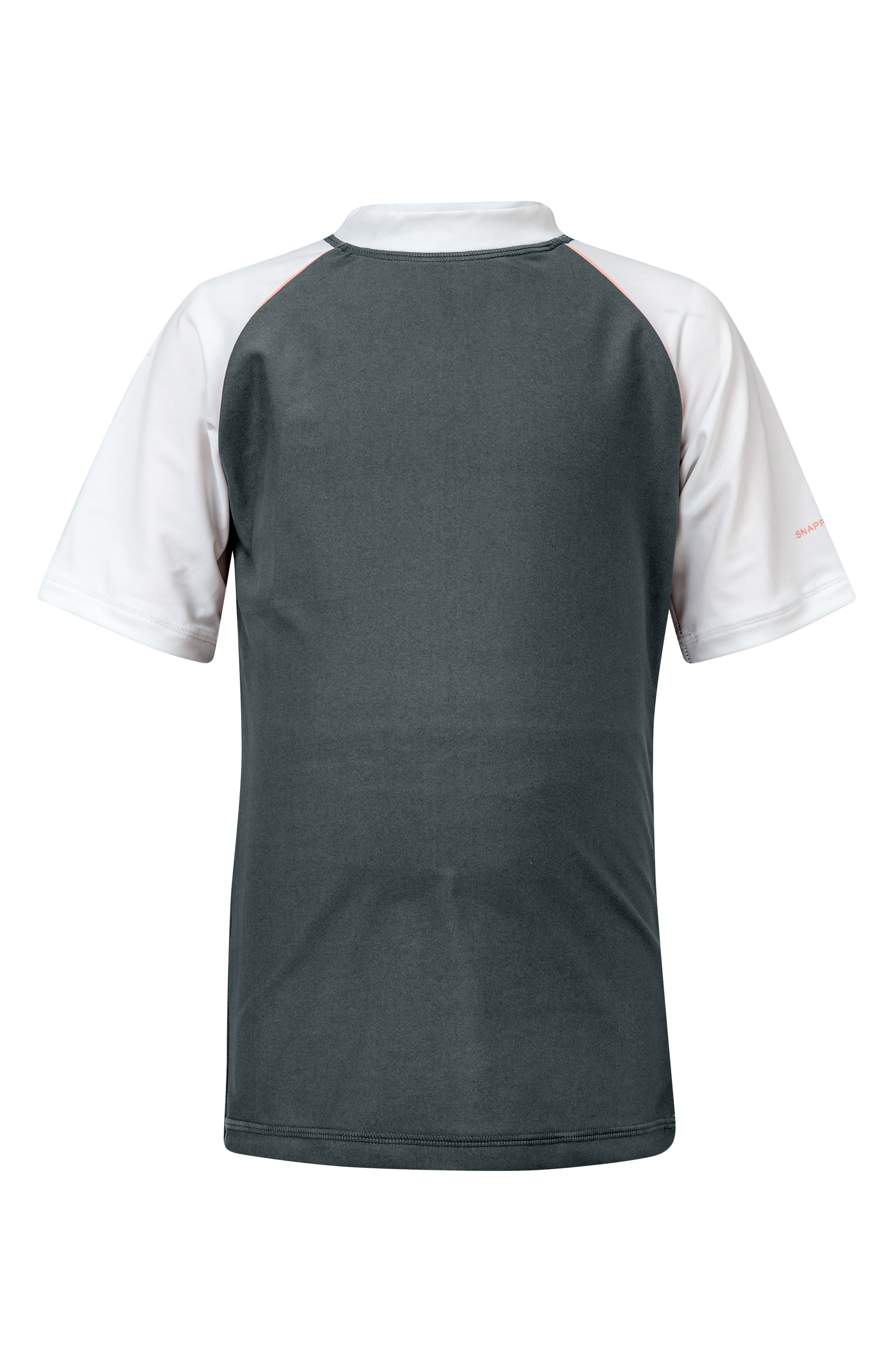 Raglan Short Sleeve Rashguard,                             Main thumbnail 1, color,                             Steel Grey