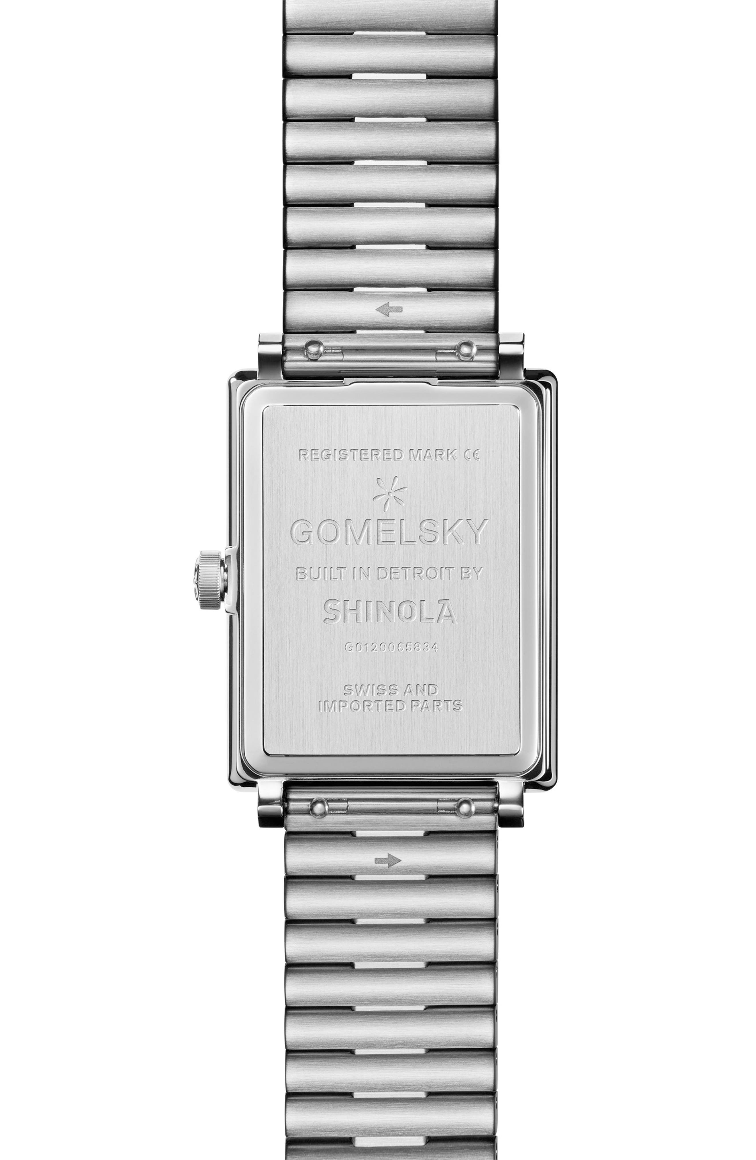 The Shirley Fromer Bracelet Watch, 32mm x 25mm,                             Alternate thumbnail 2, color,                             Silver/ Blue/ Silver