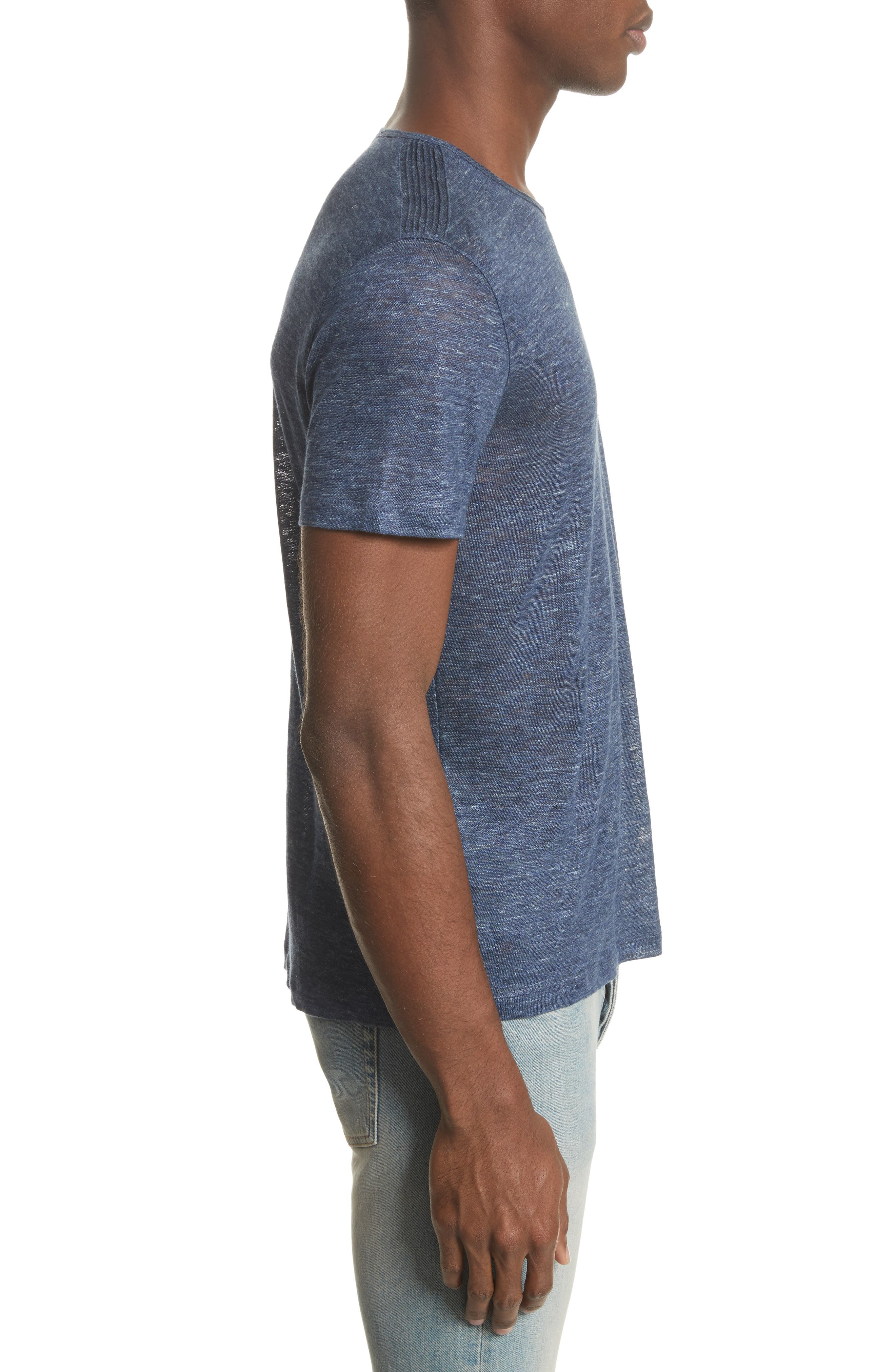 Alternate Image 3  - John Varvatos Collection Linen T-Shirt