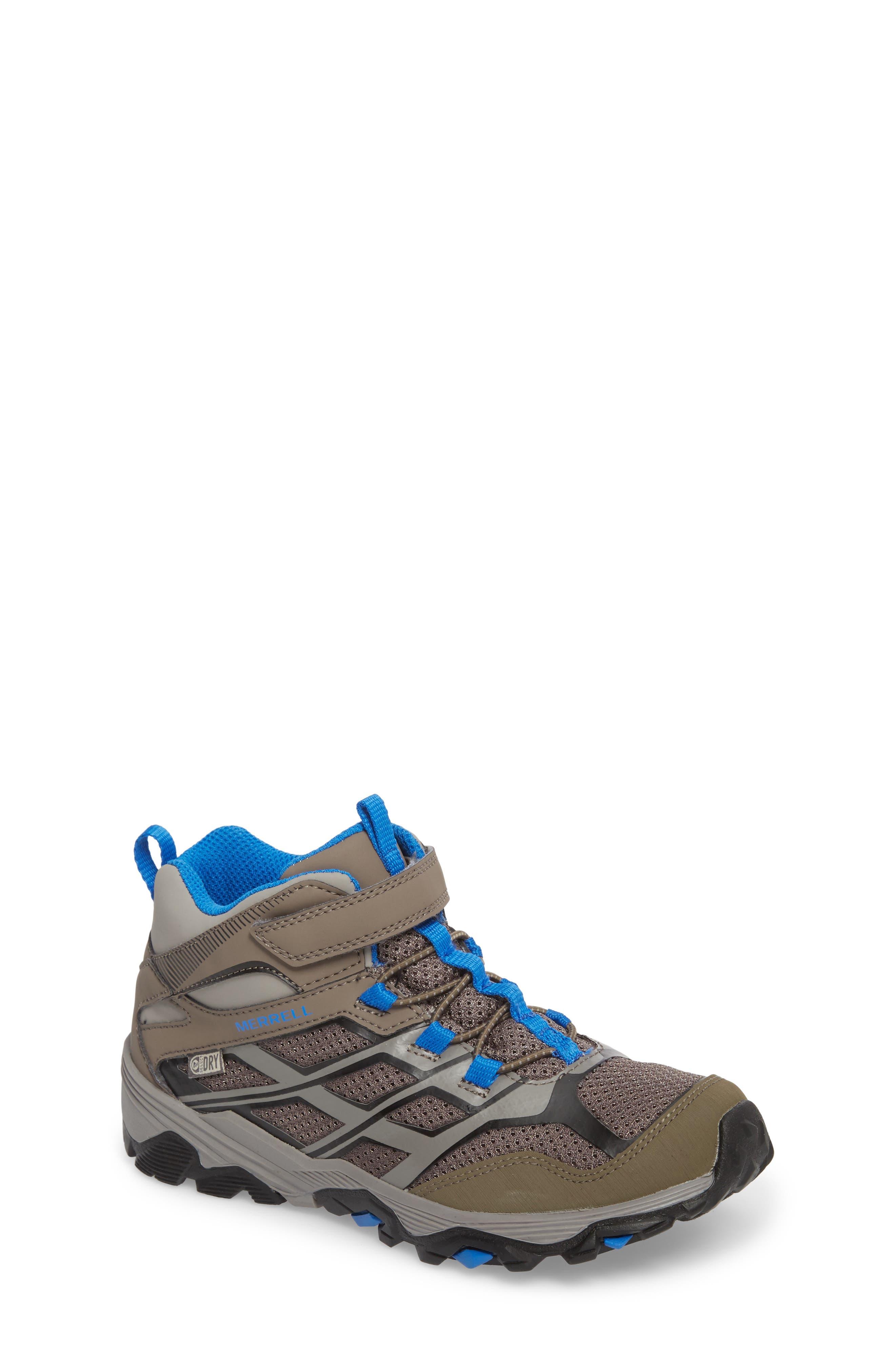 Main Image - Merrell Moab FST Mid Top Waterproof Sneaker Boot (Toddler, Little Kid & Big Kid)