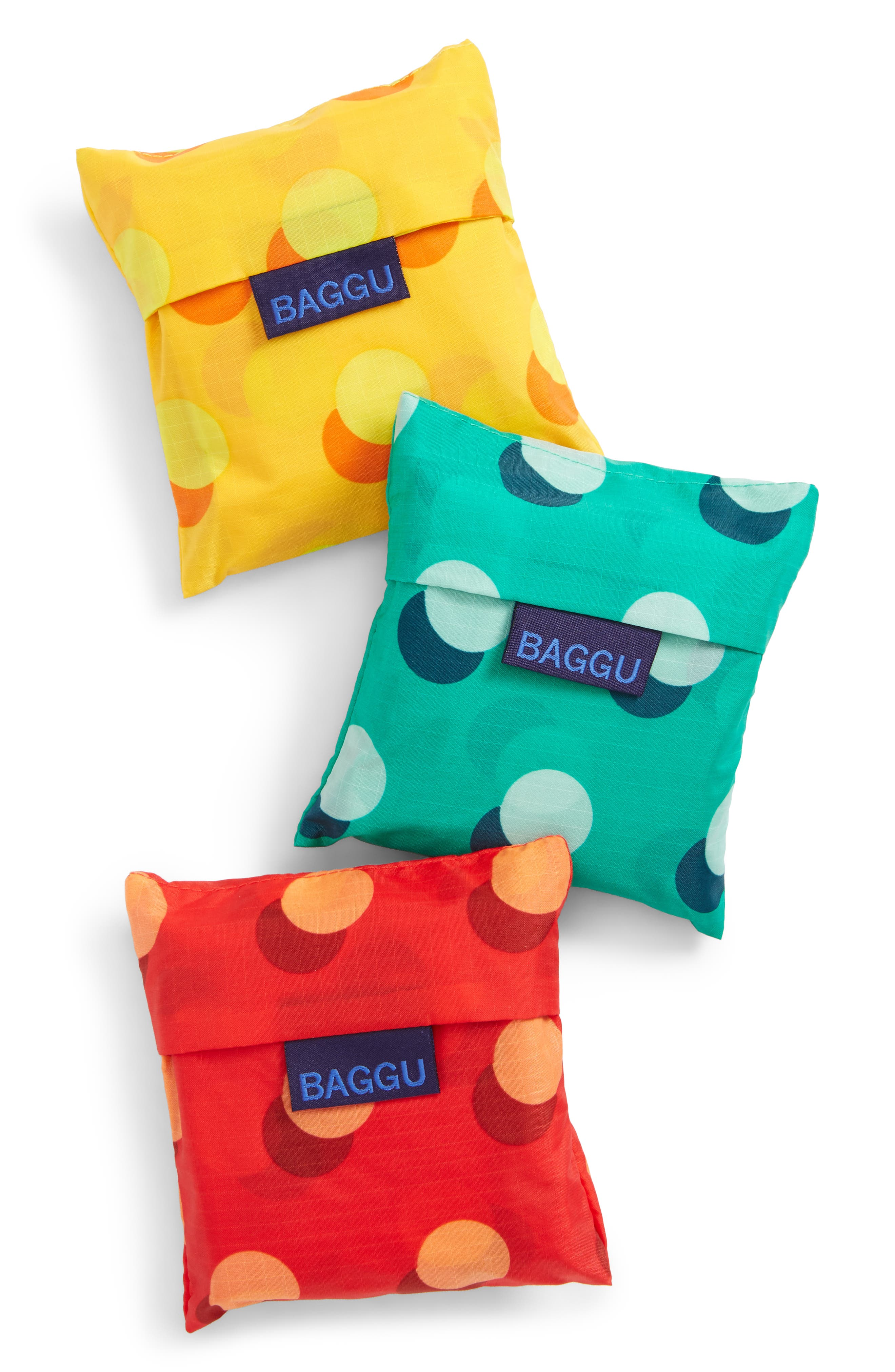 Alternate Image 7  - Baggu Disco Dot Set of 3 Nylon Totes