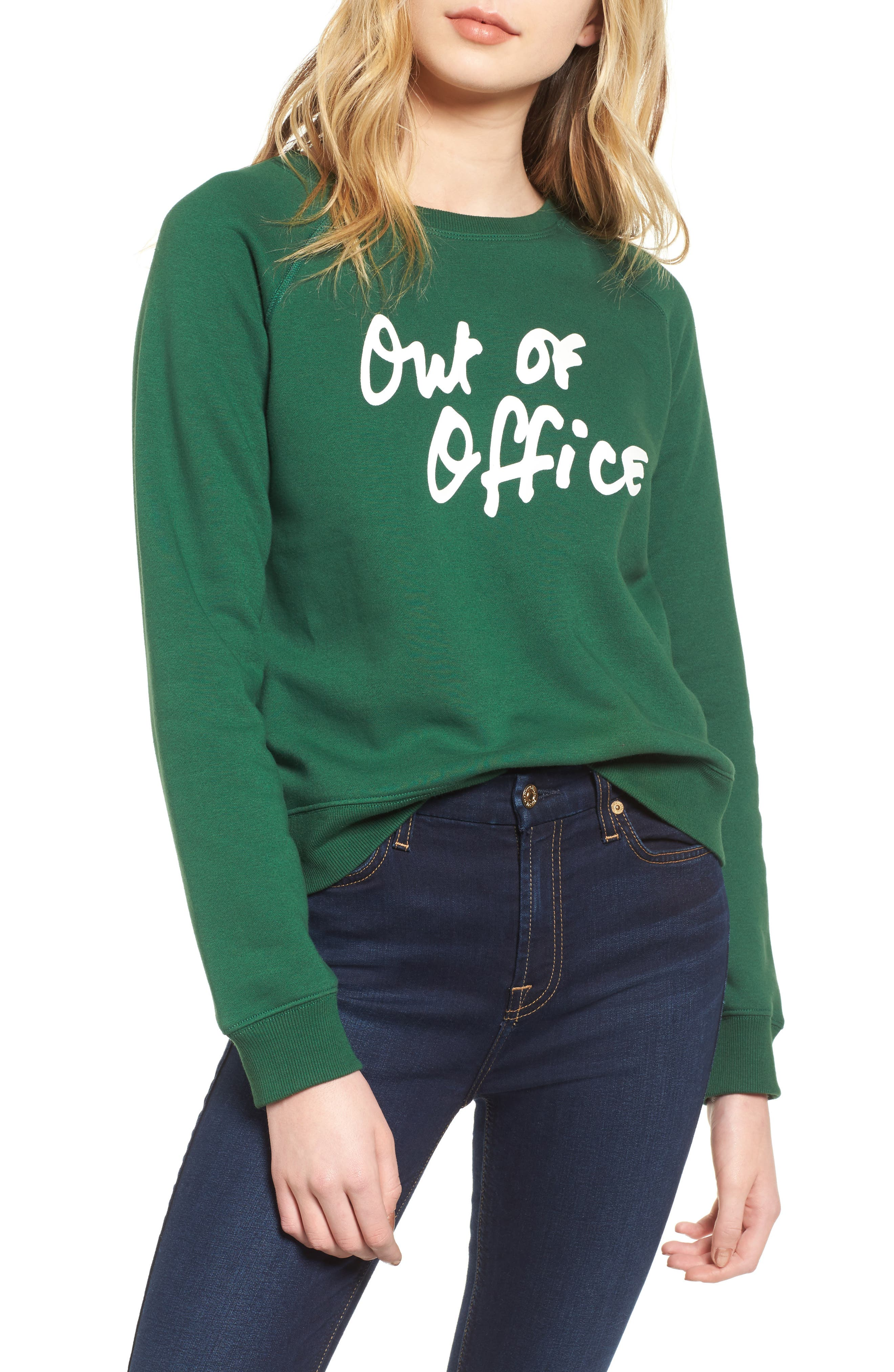 Out of Office Sweatshirt,                             Main thumbnail 1, color,                             Eden Multi