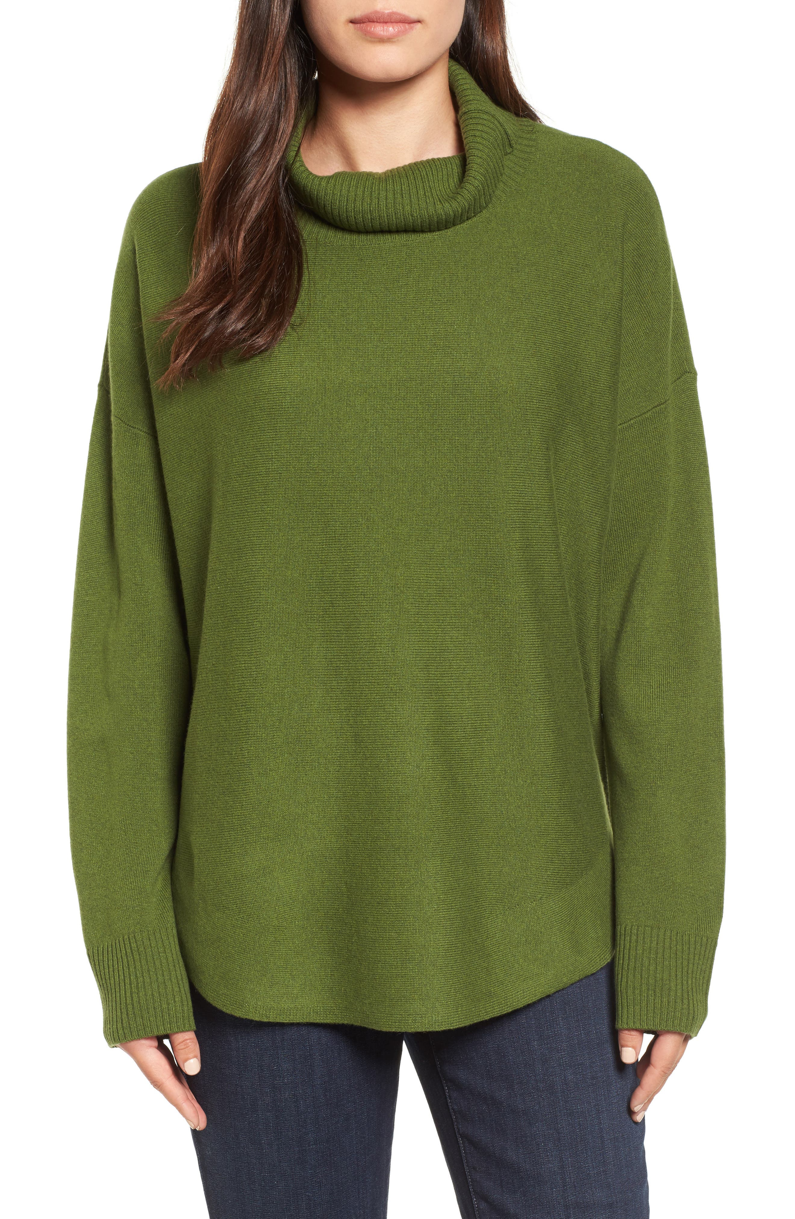 Eileen Fisher Draped Turtleneck Sweater (Regular & Petite)