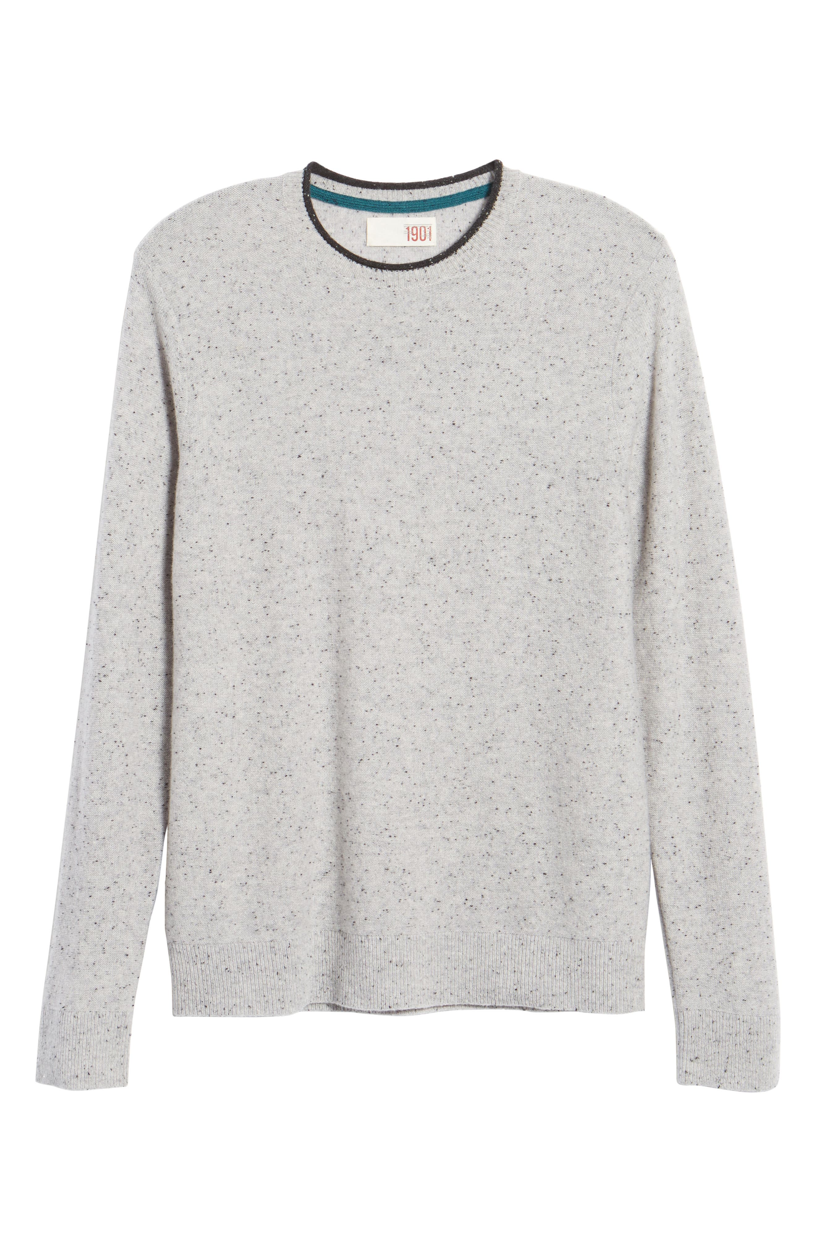 Nep Wool & Cashmere Sweater,                             Alternate thumbnail 6, color,                             Grey Donegal