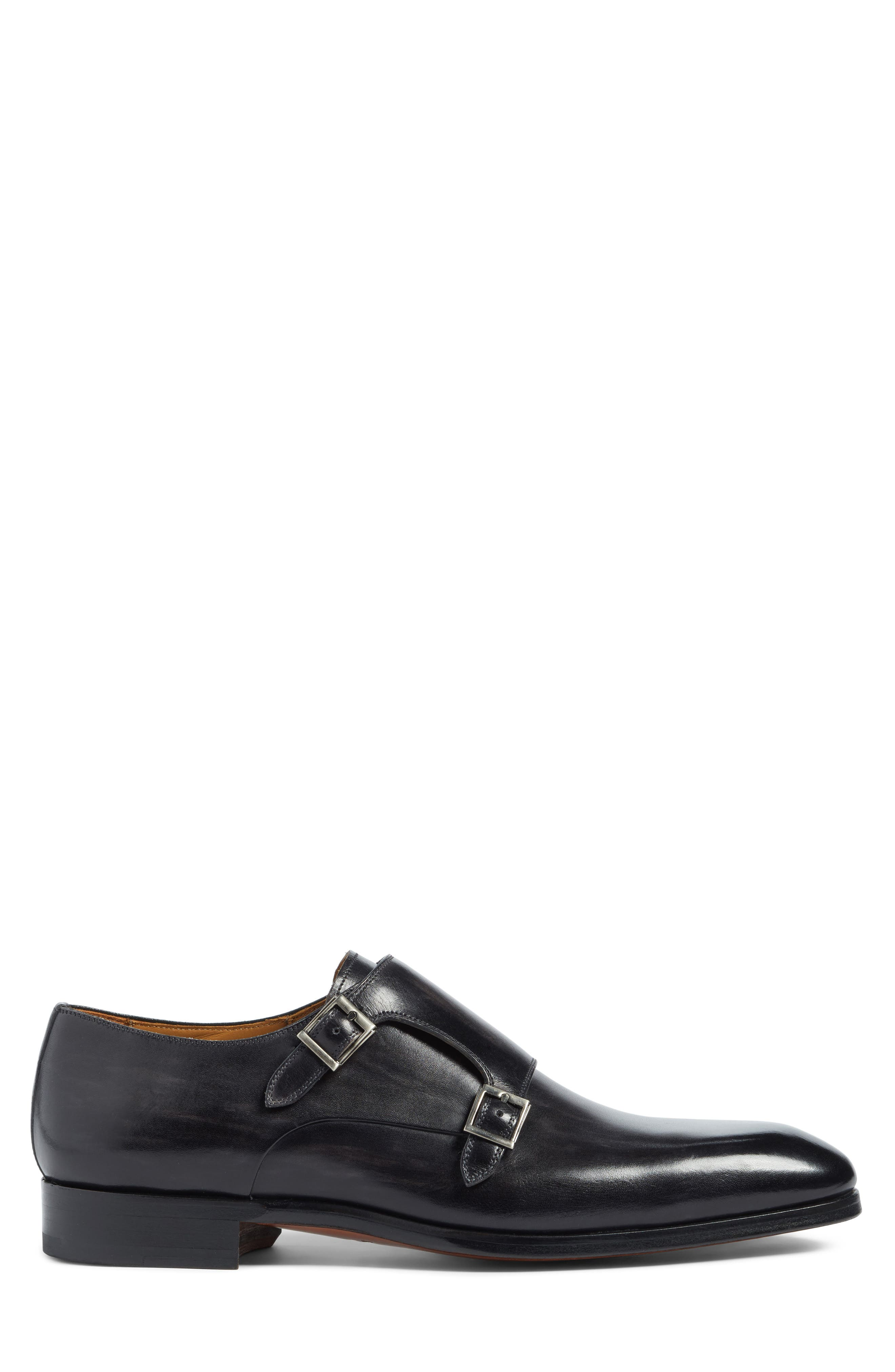 Lucio Double Strap Monk Shoe,                             Alternate thumbnail 3, color,                             Light Grey Leather