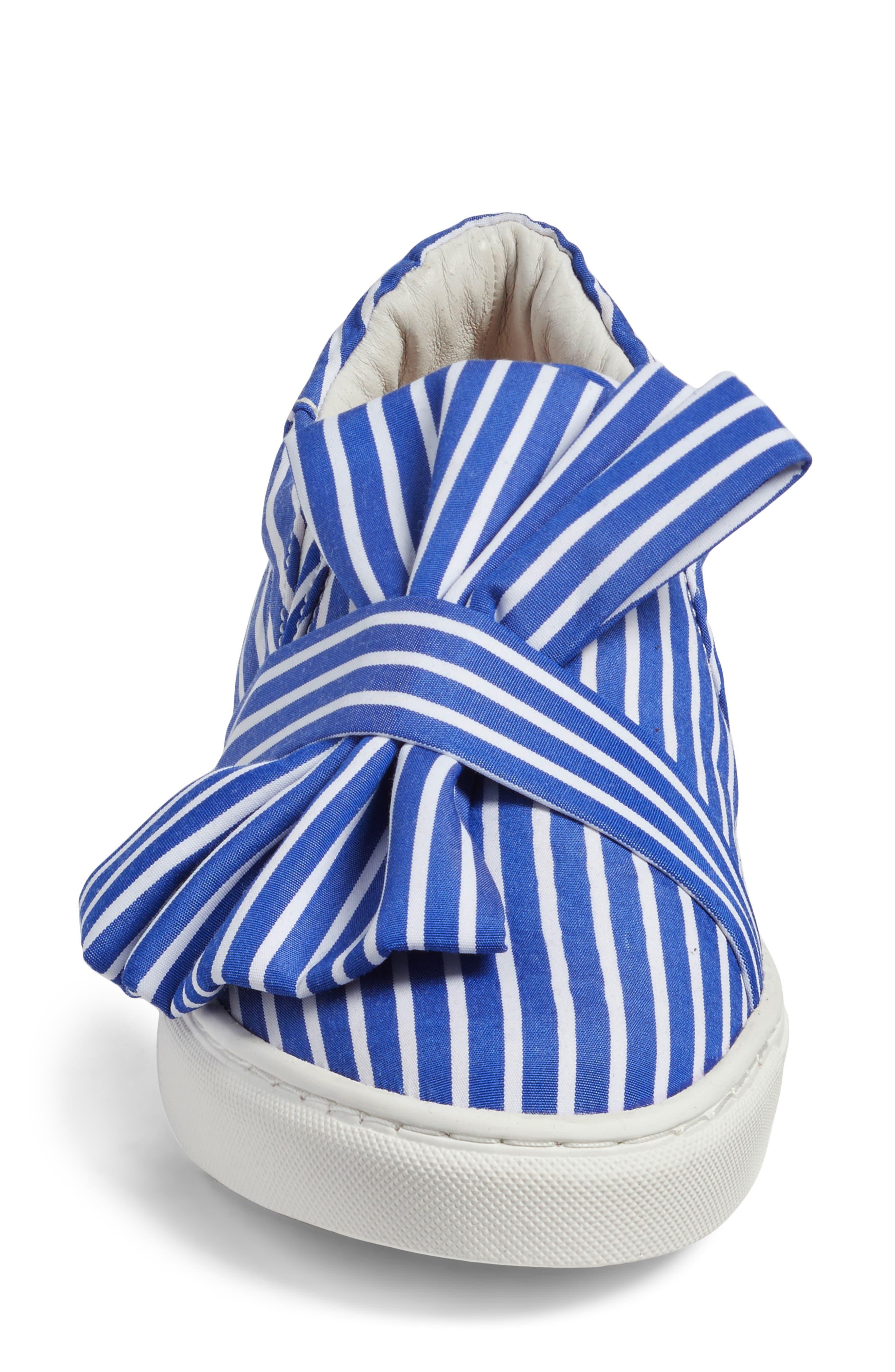 Mika Slip-On Sneaker,                             Alternate thumbnail 6, color,                             Blue Shirting Fabric