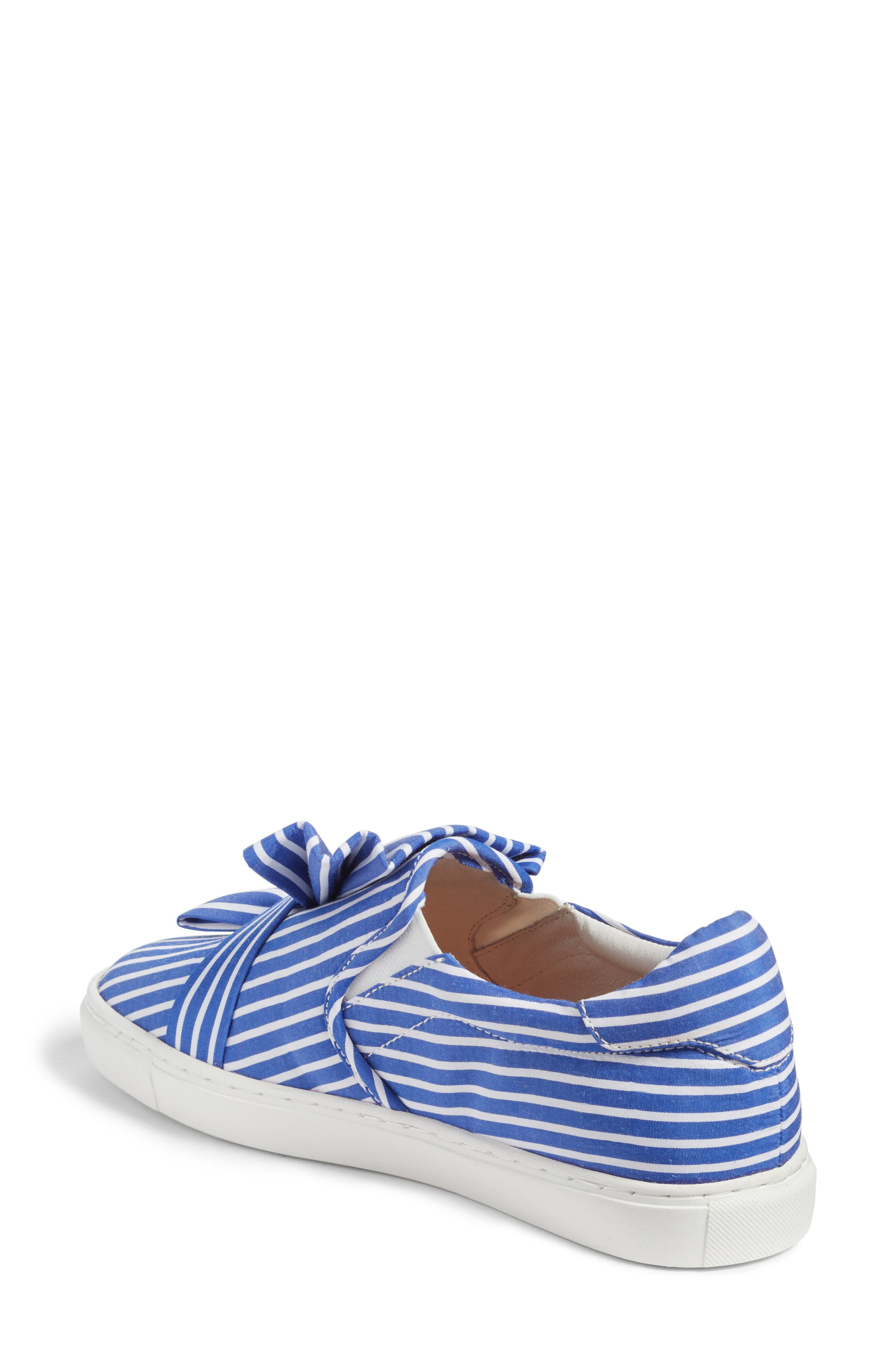 Mika Slip-On Sneaker,                             Alternate thumbnail 3, color,                             Blue Shirting Fabric
