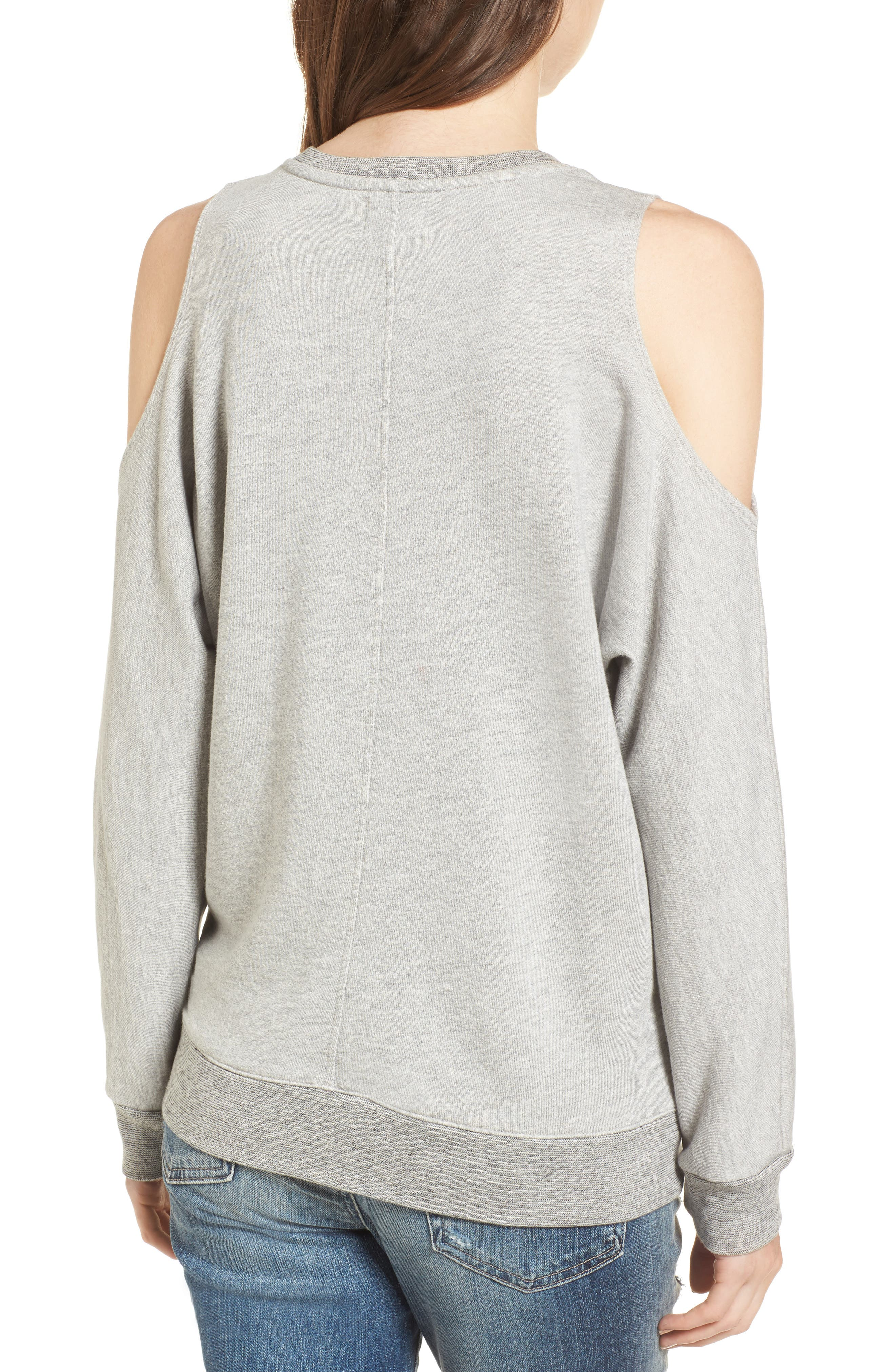 Alternate Image 2  - Sundry Good Vibes Cold Shoulder Sweatshirt