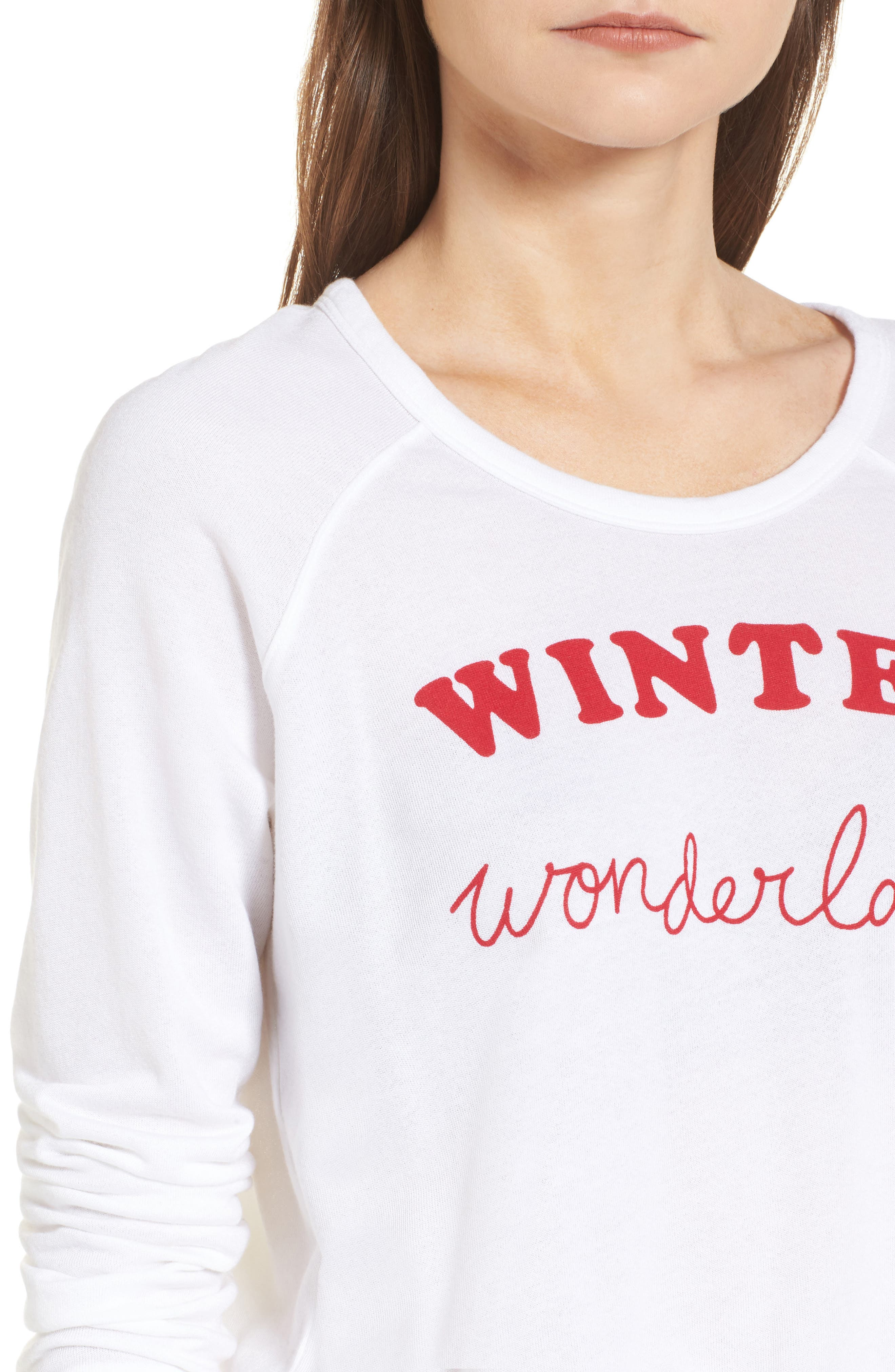 Winter Wonderland Sweatshirt,                             Alternate thumbnail 4, color,                             White