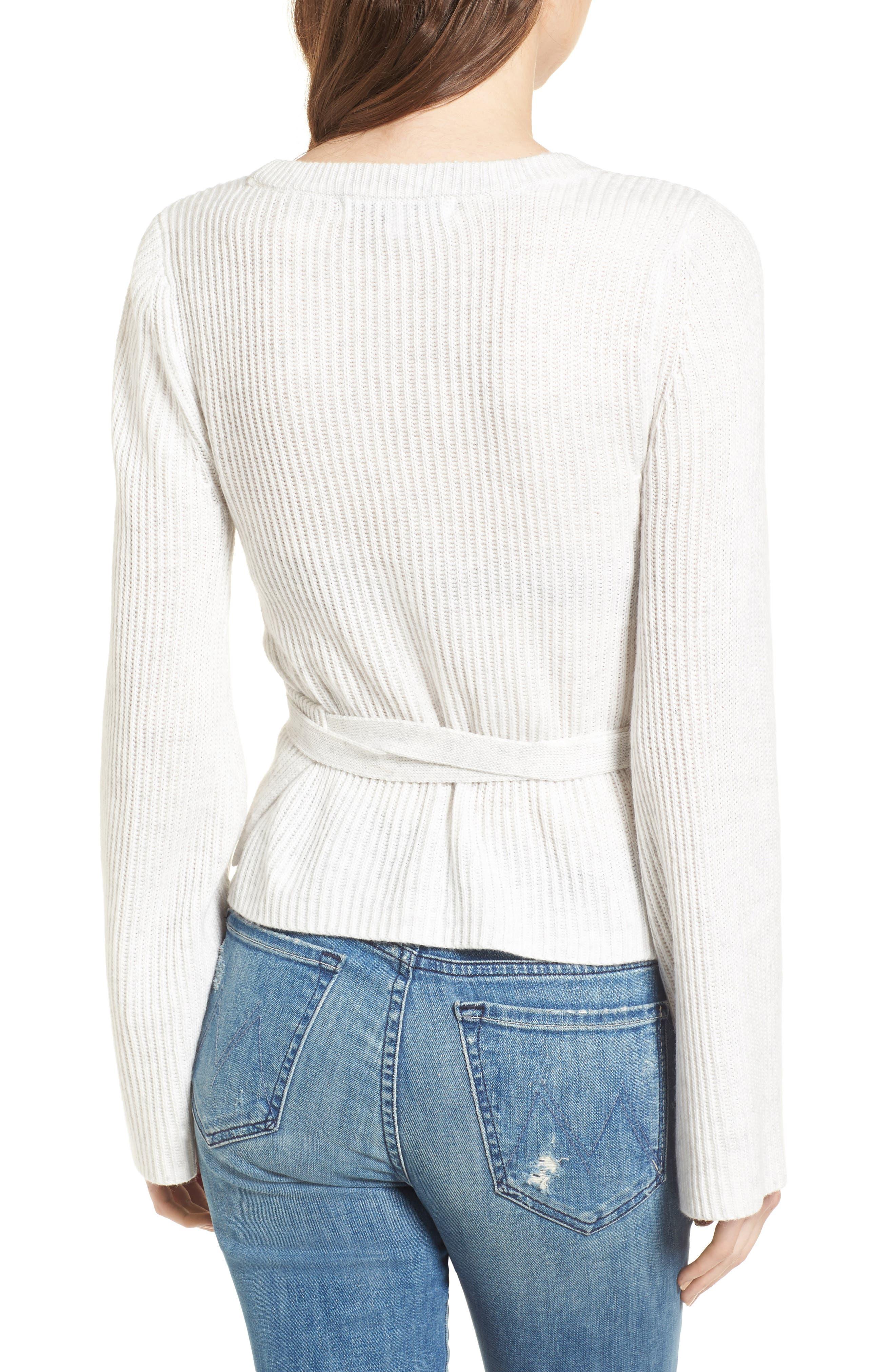 Chavi Tie Waist Sweater,                             Alternate thumbnail 2, color,                             Heather Ash