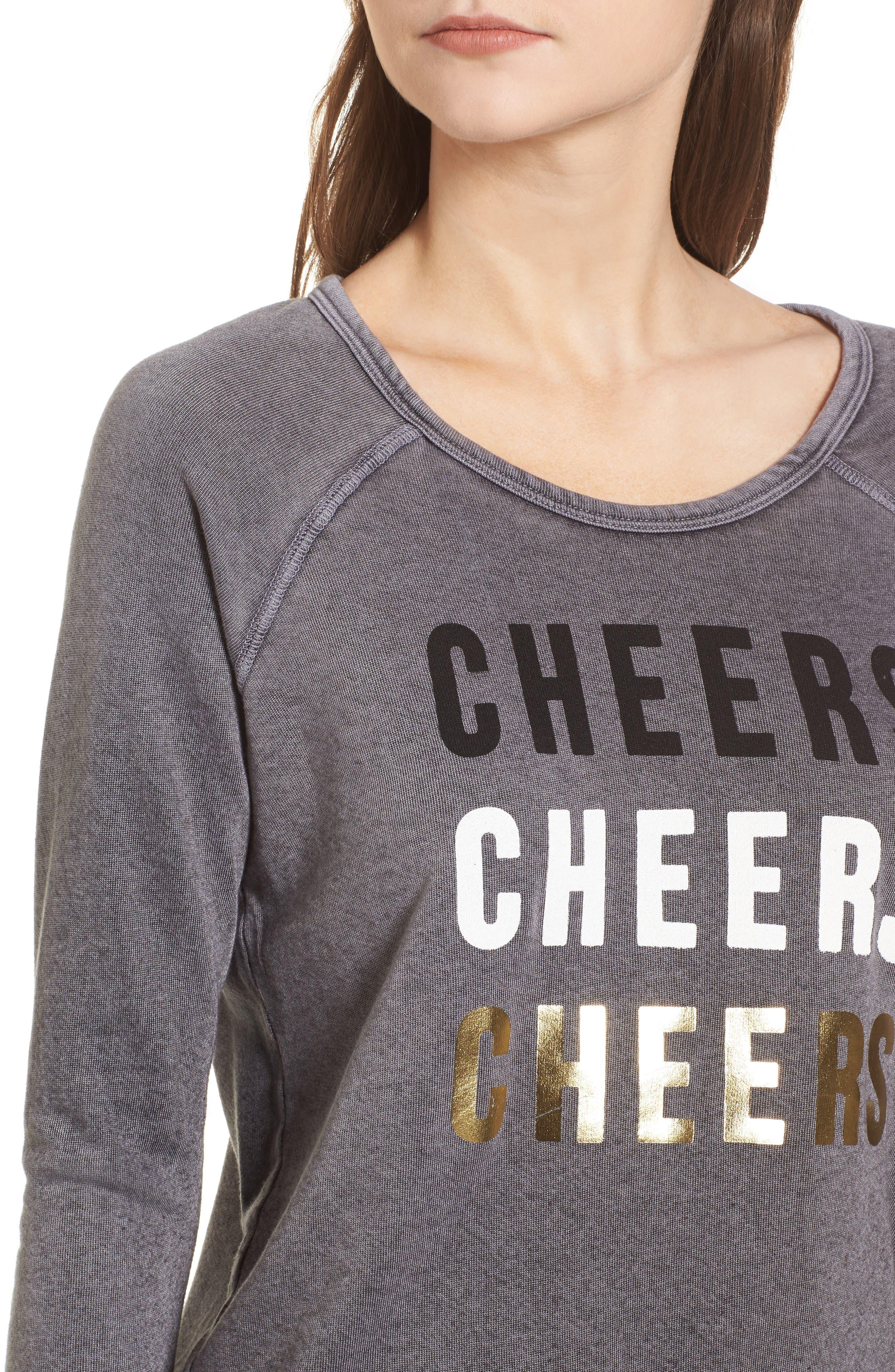Cheers Sweatshirt,                             Alternate thumbnail 4, color,                             Vintage Black