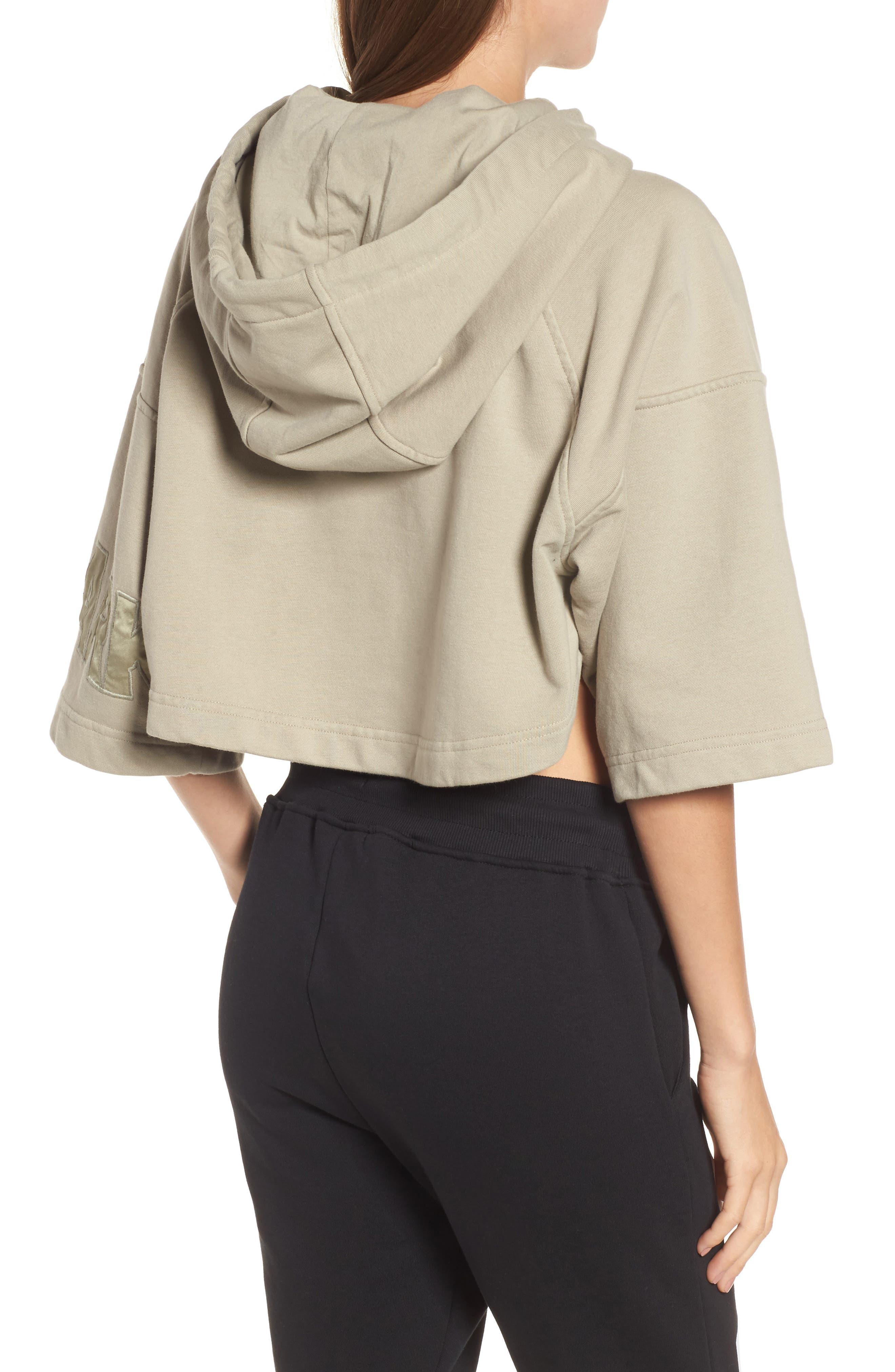 Alternate Image 2  - IVY PARK® Short Sleeve Crop Hoodie