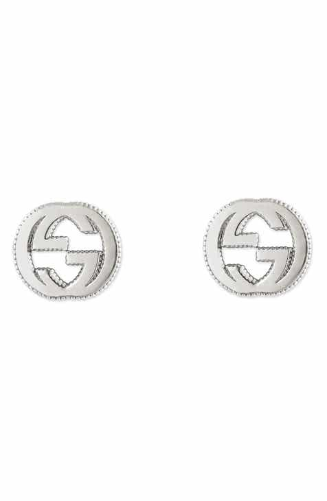 e7f1227a2458e4 Gucci Silver Interlocking-G Stud Earrings