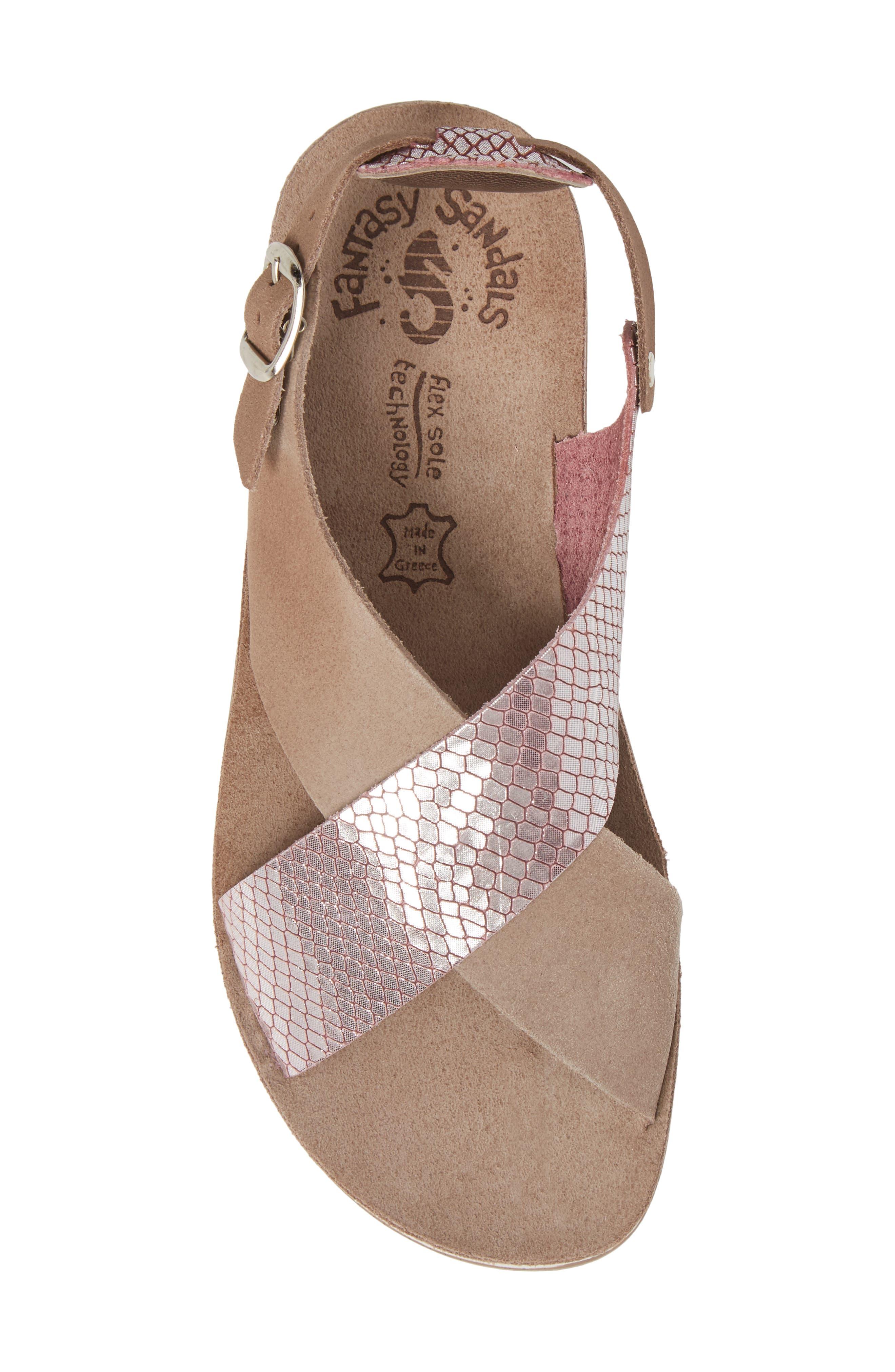 Izabella Fantasy Platform Sandal,                             Alternate thumbnail 5, color,                             Coffee Snake Leather