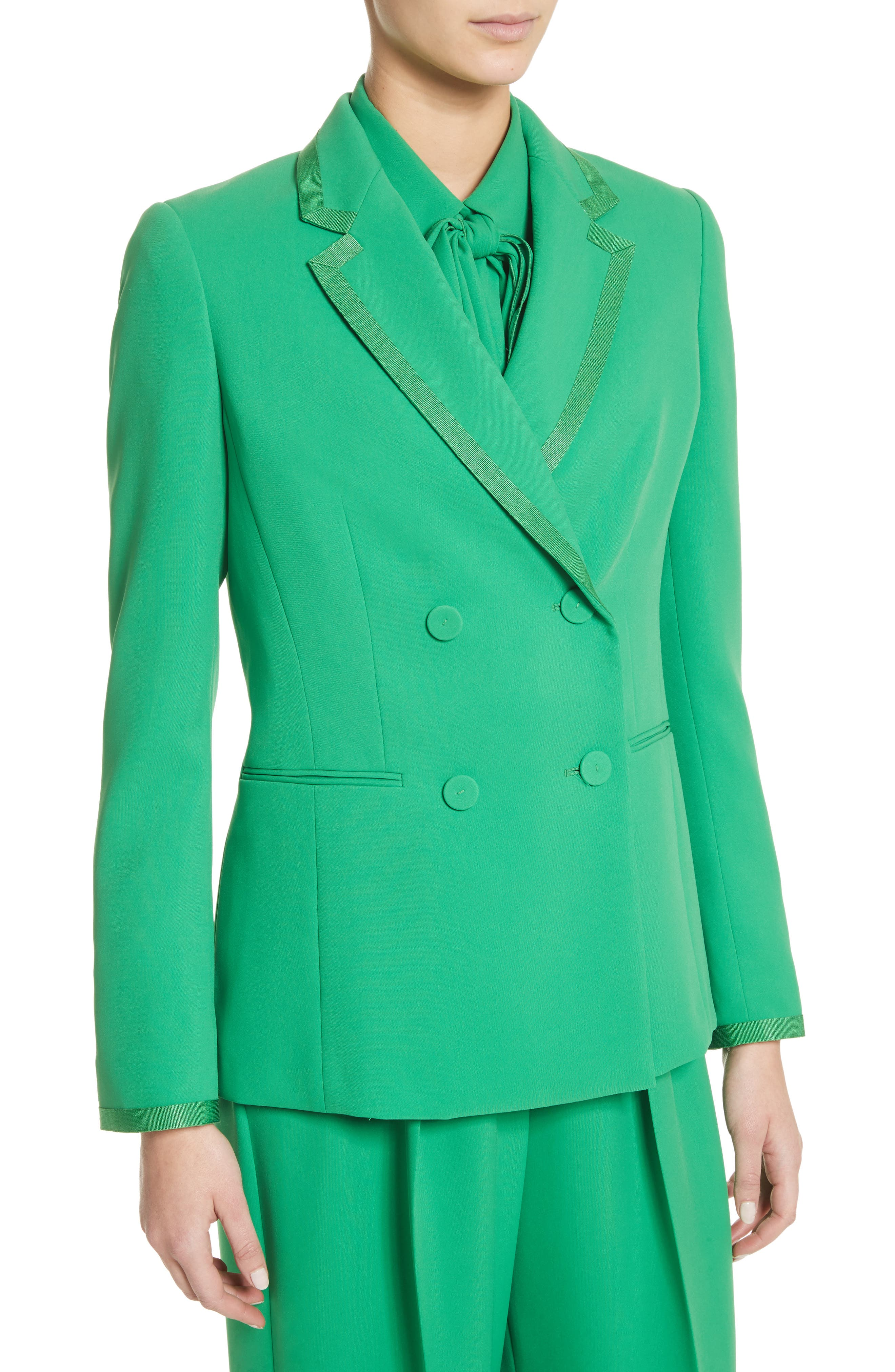 Double Breasted Blazer,                             Alternate thumbnail 6, color,                             Green