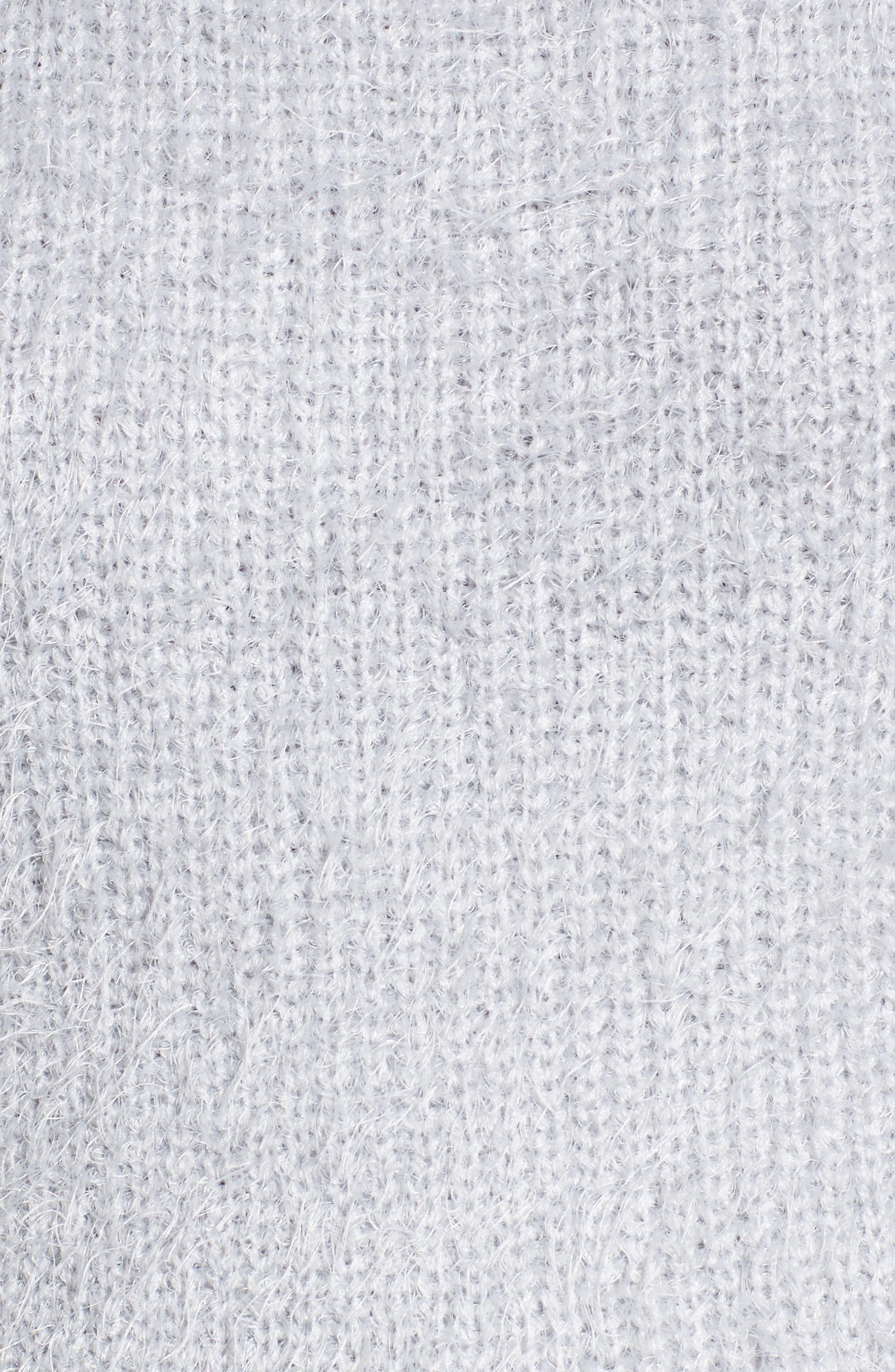 Cold Shoulder Sweater,                             Alternate thumbnail 5, color,                             Light Purple Grey