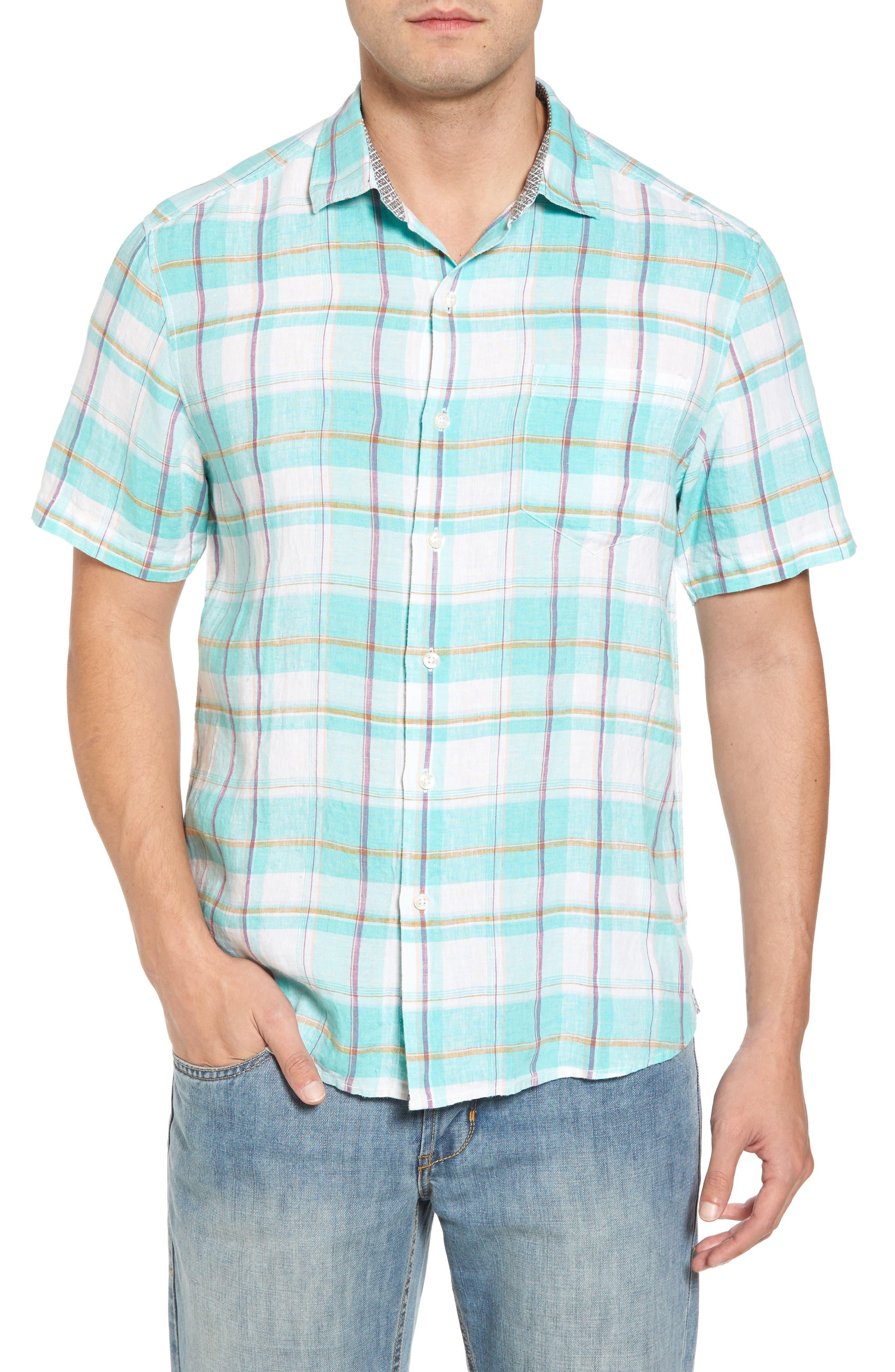 Lauderdale Regular Fit Sport Shirt,                             Main thumbnail 1, color,                             Dusty Aqua