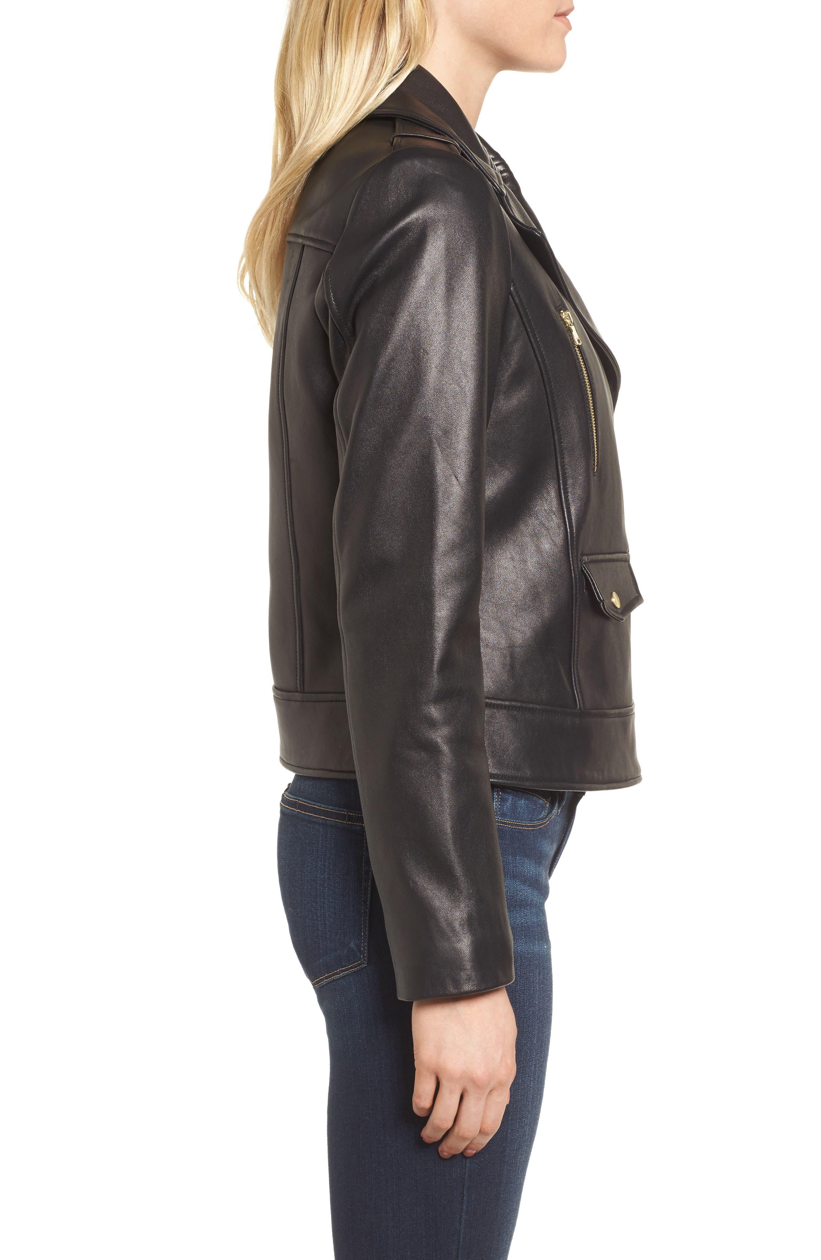 Alternate Image 3  - Cole Haan Signature Leather Moto Jacket