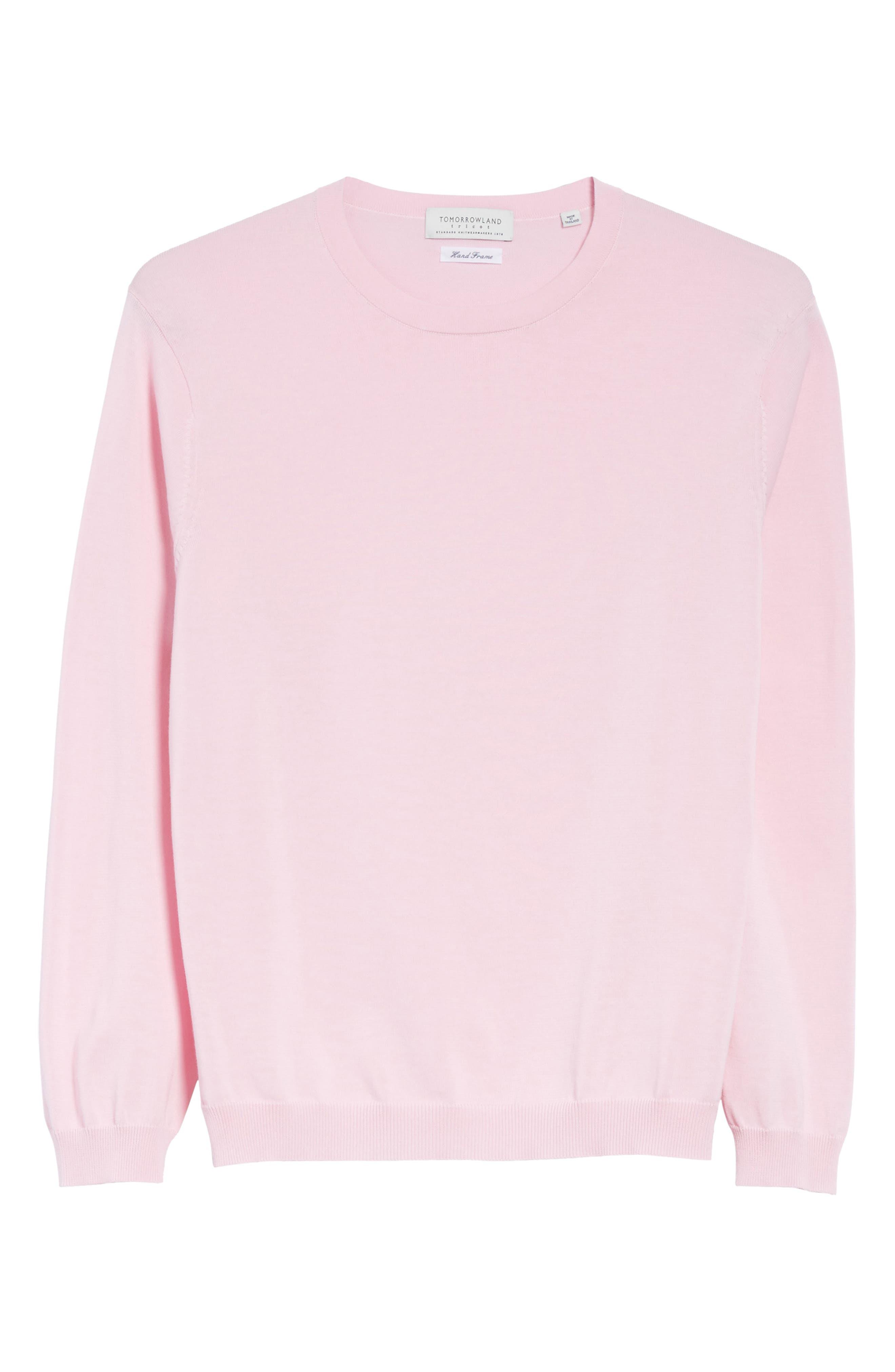 Crewneck Sweater,                             Alternate thumbnail 6, color,                             Pink