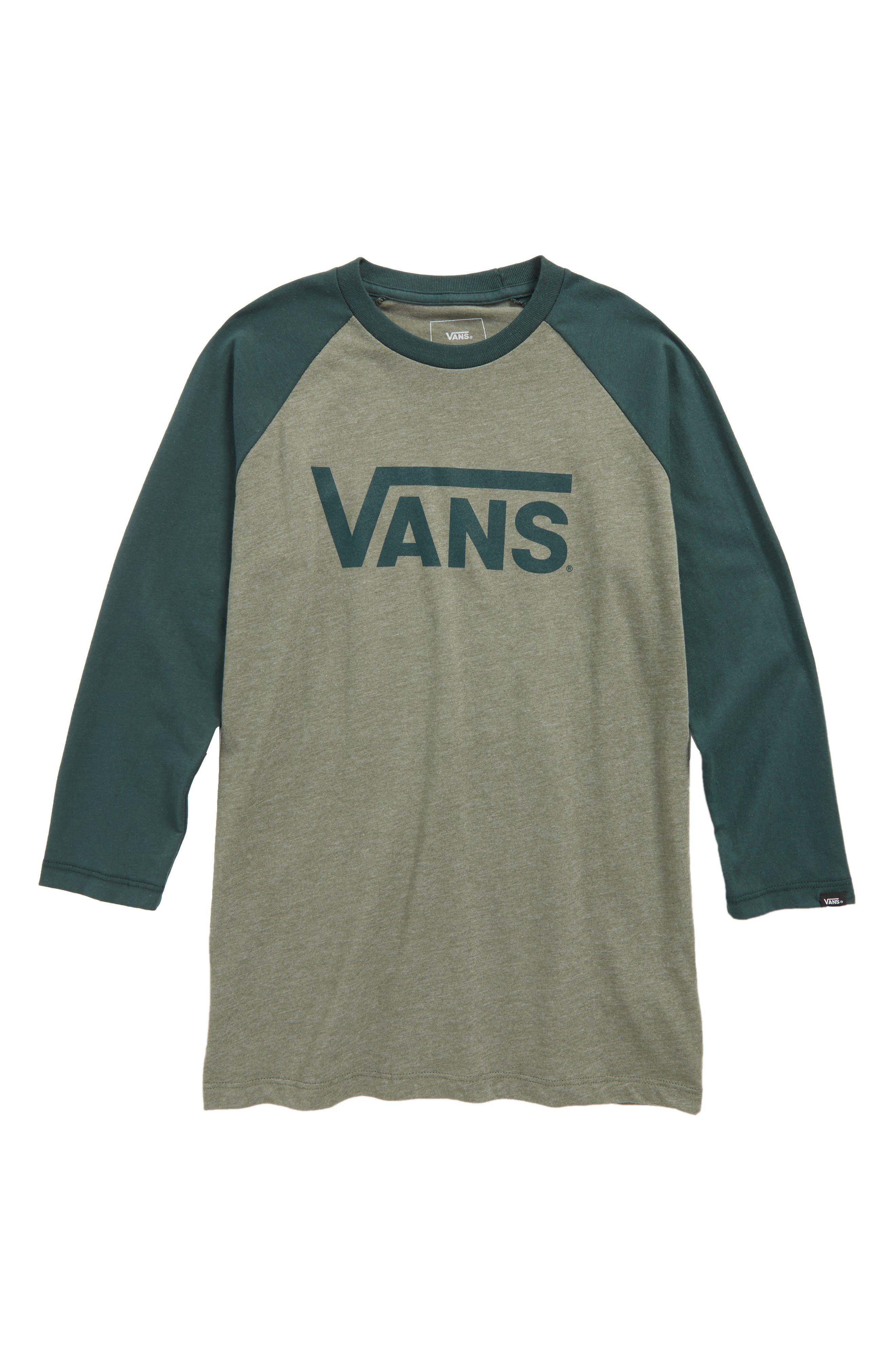Alternate Image 1 Selected - Vans 'Classic' Logo Raglan Sleeve T-Shirt (Big Boys)