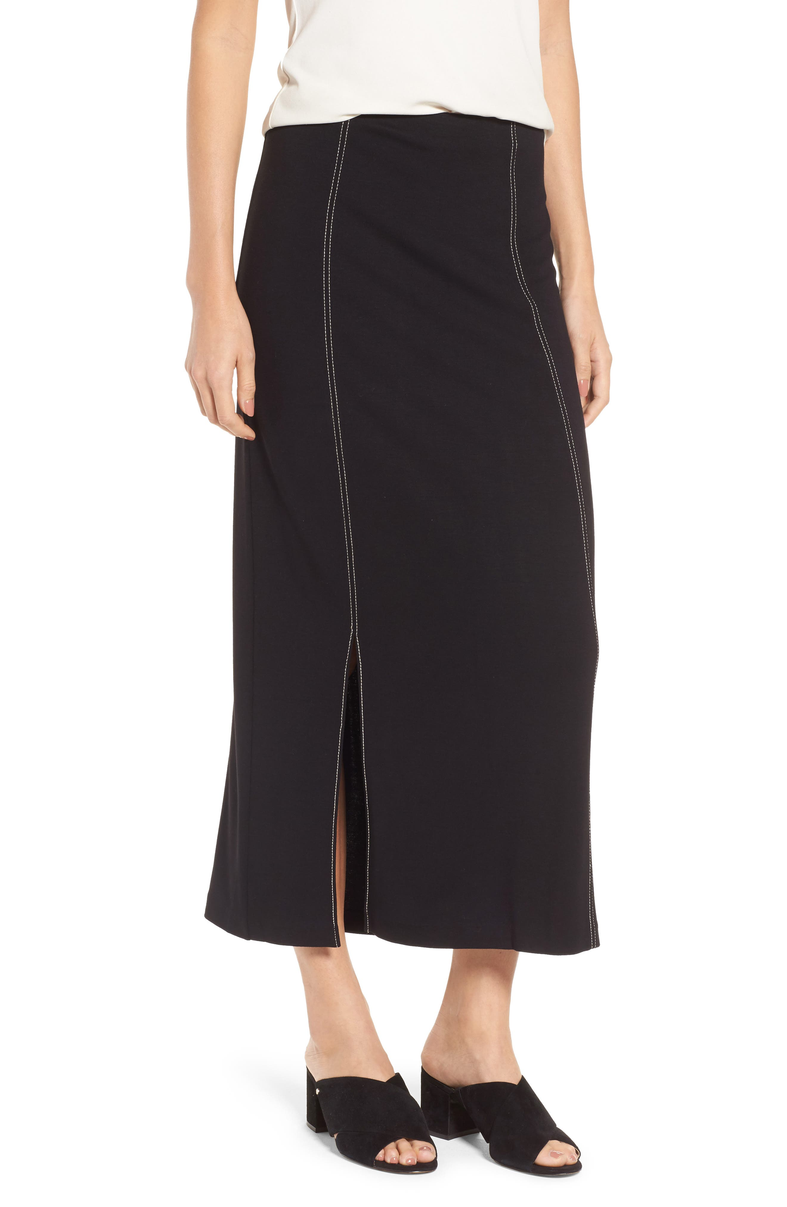 Break Out Maxi Skirt,                             Main thumbnail 1, color,                             Black Onyx
