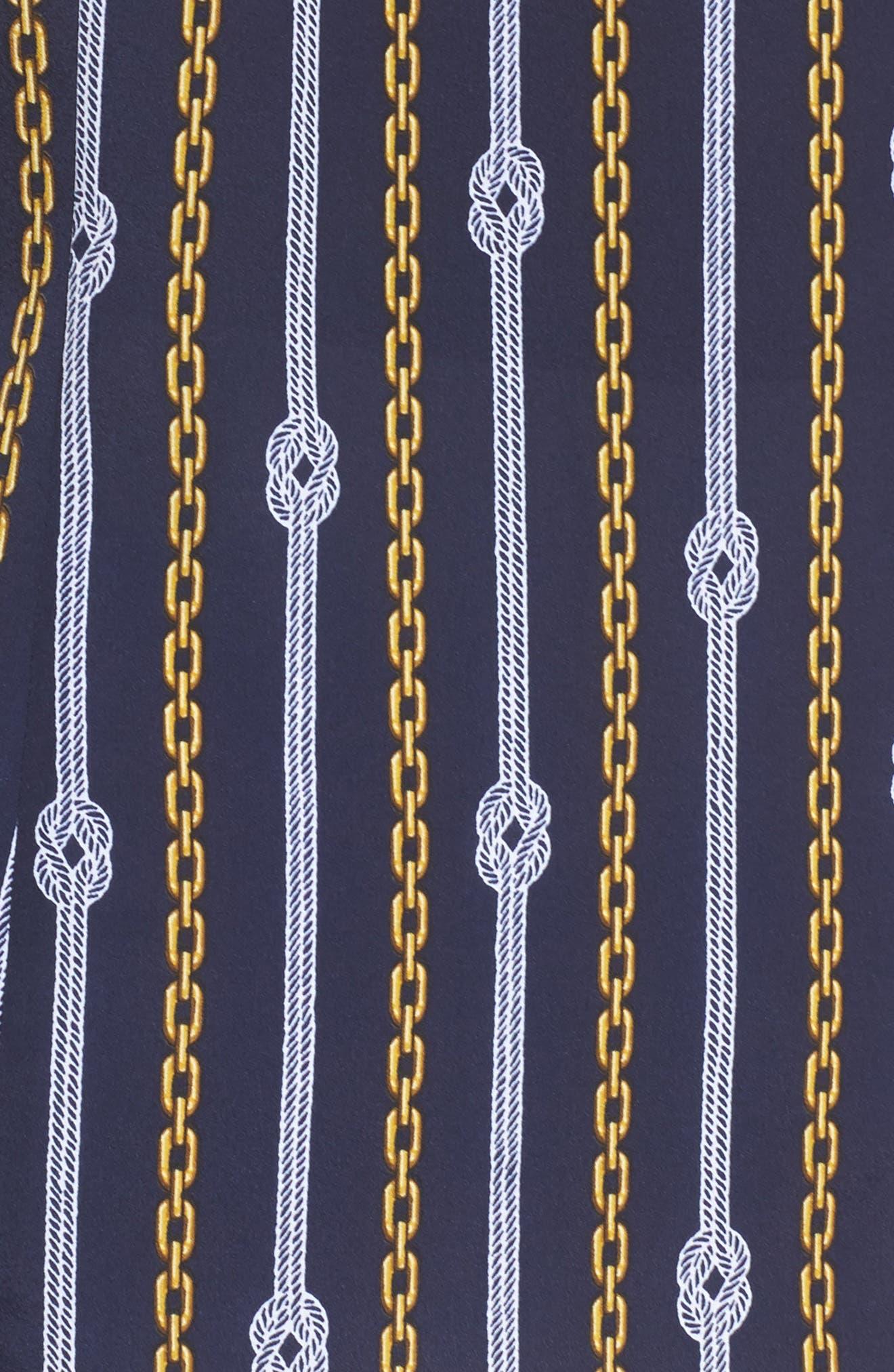 Print Zip Front Top,                             Alternate thumbnail 5, color,                             True Navy/ Gold