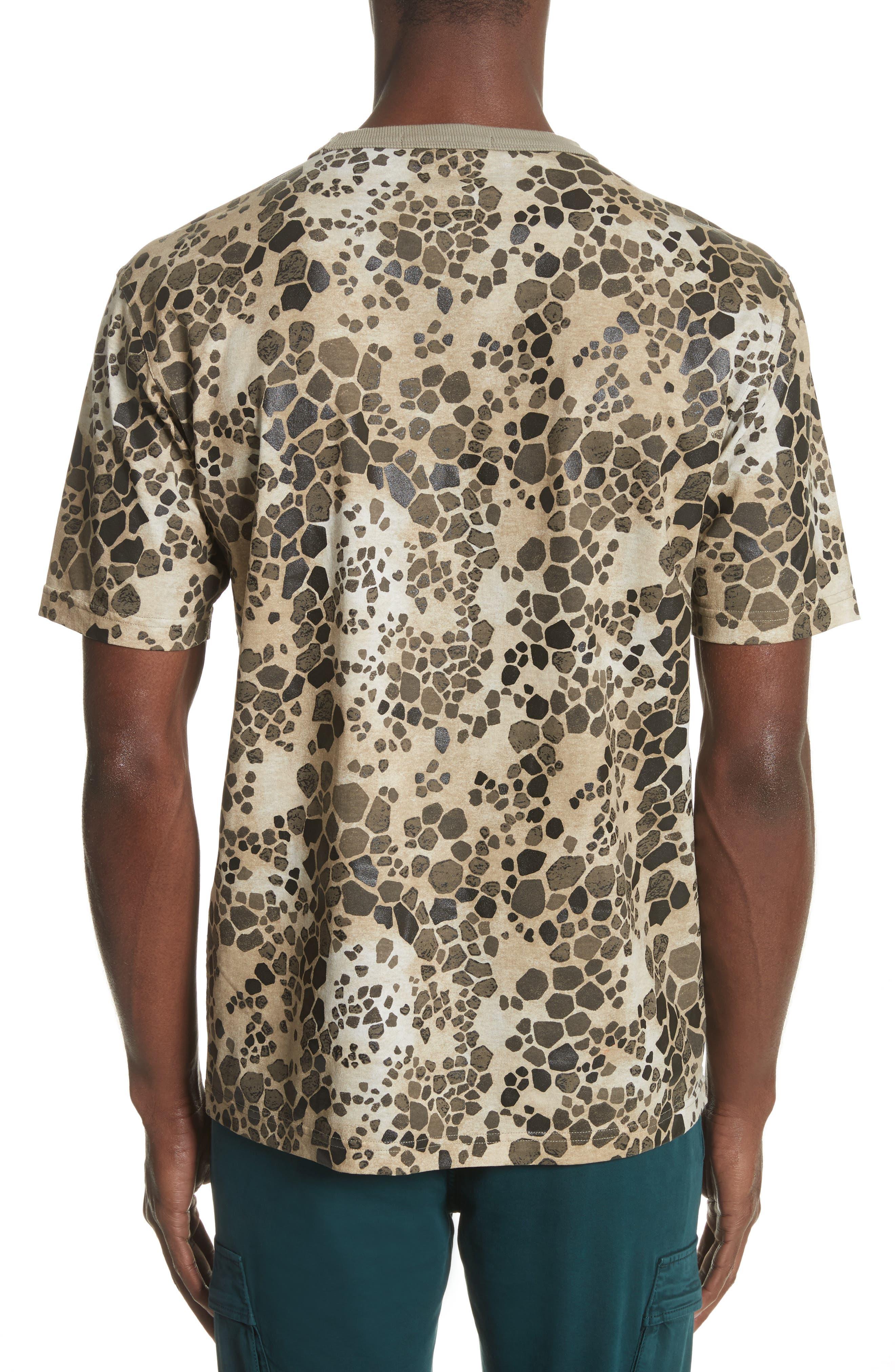 Camo Print T-Shirt,                             Alternate thumbnail 2, color,                             Brown