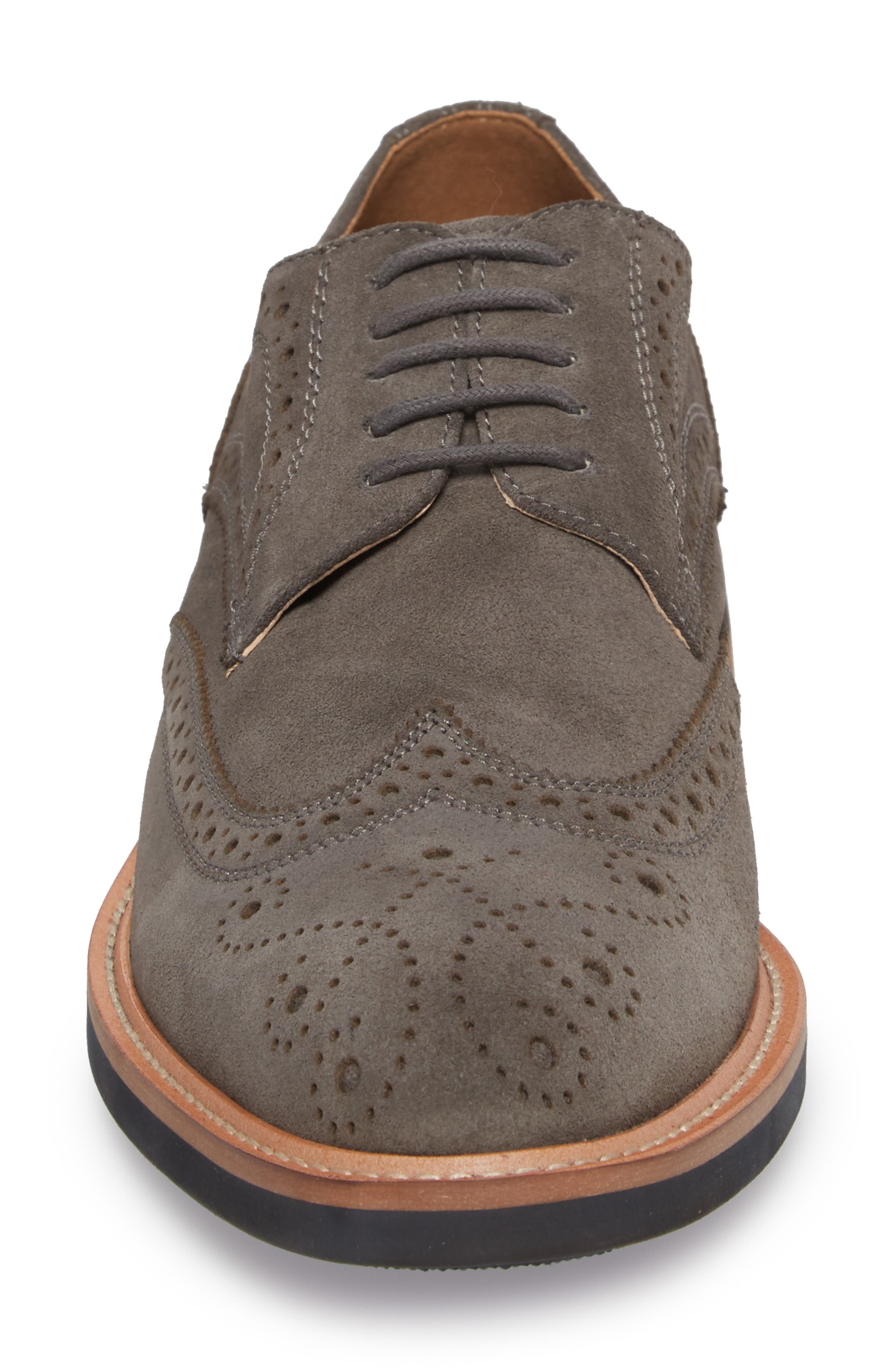 Kenneth Cole Reaction Wingtip,                             Alternate thumbnail 4, color,                             Grey